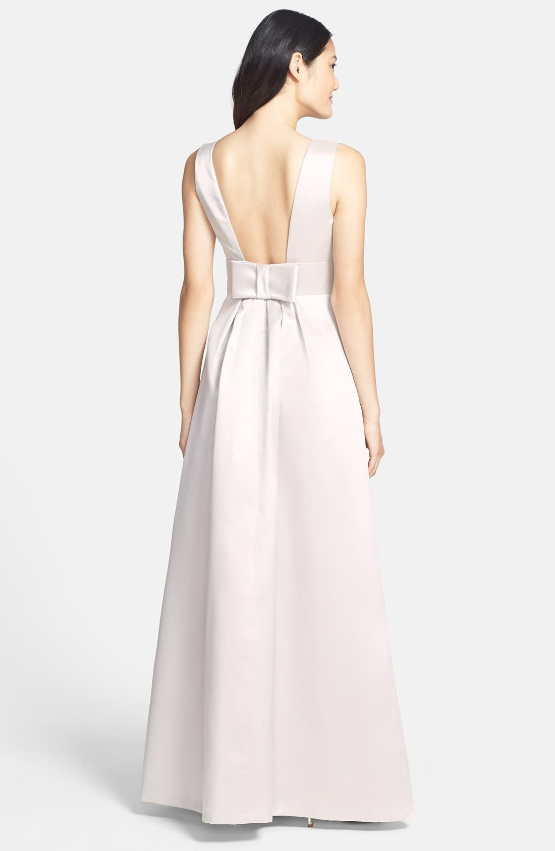 Alternate Image 2  - Alfred Sung Bow Back Sateen Twill Gown