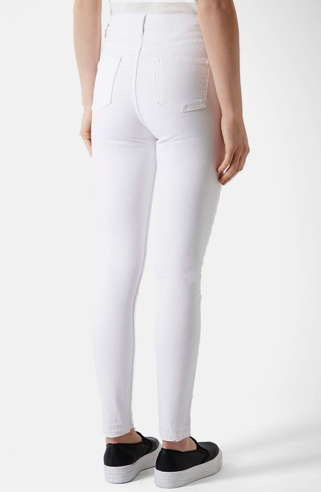 Alternate Image 2  - Topshop Moto 'Jamie' Skinny Jeans (Regular & Short)