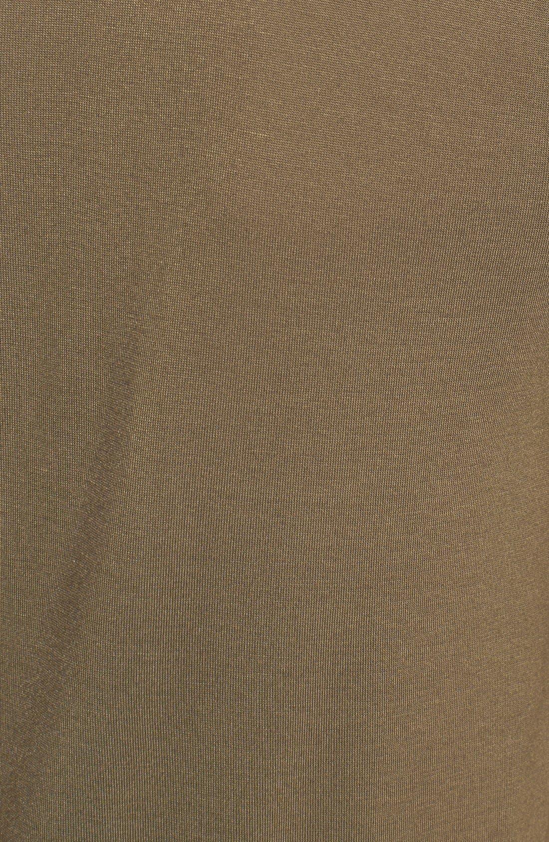 Alternate Image 3  - MICHAEL Michael Kors Camo Print Mixed Media Tee (Petite)