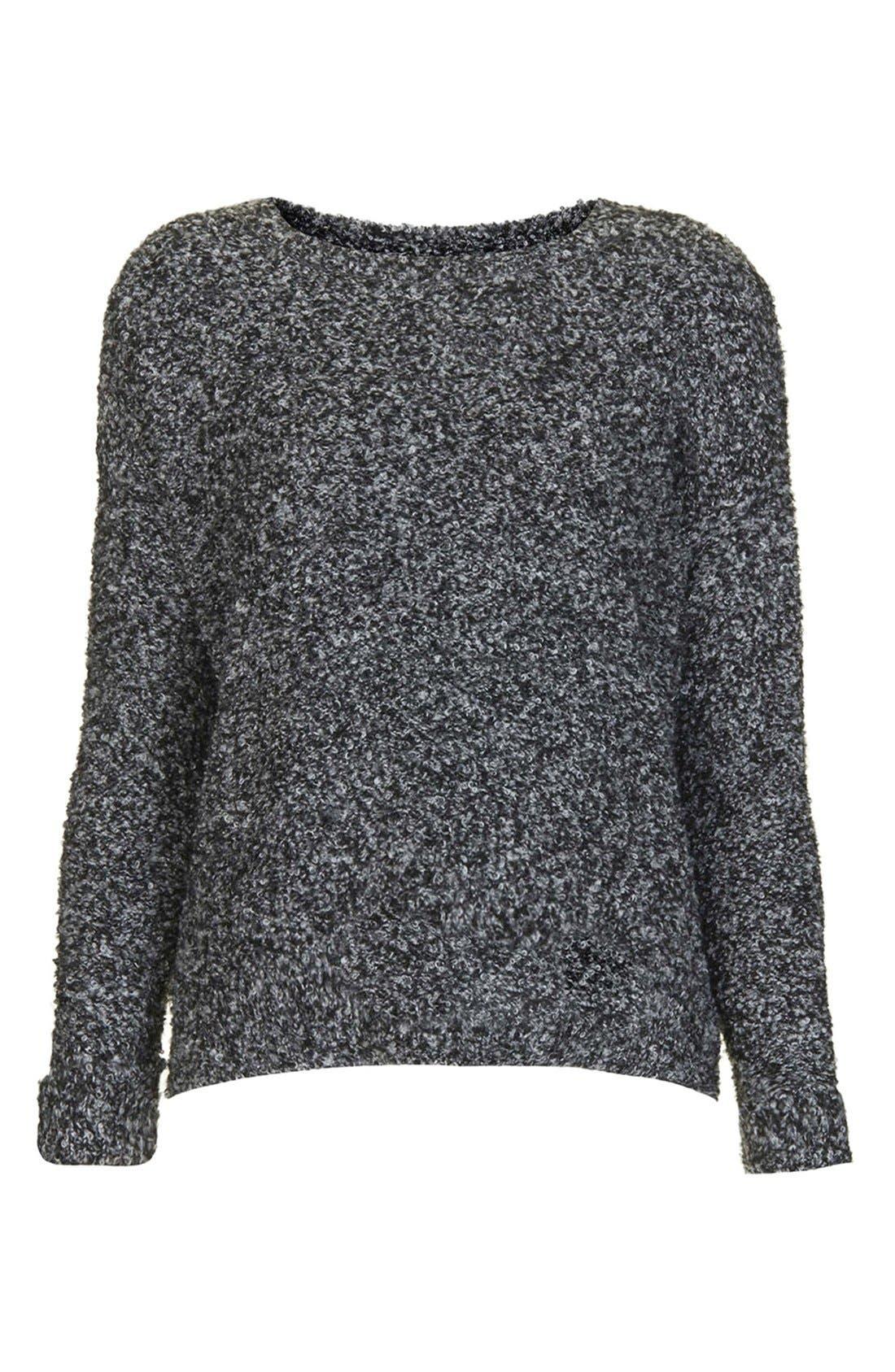 Alternate Image 3  - Topshop Slouchy Bouclé Sweater