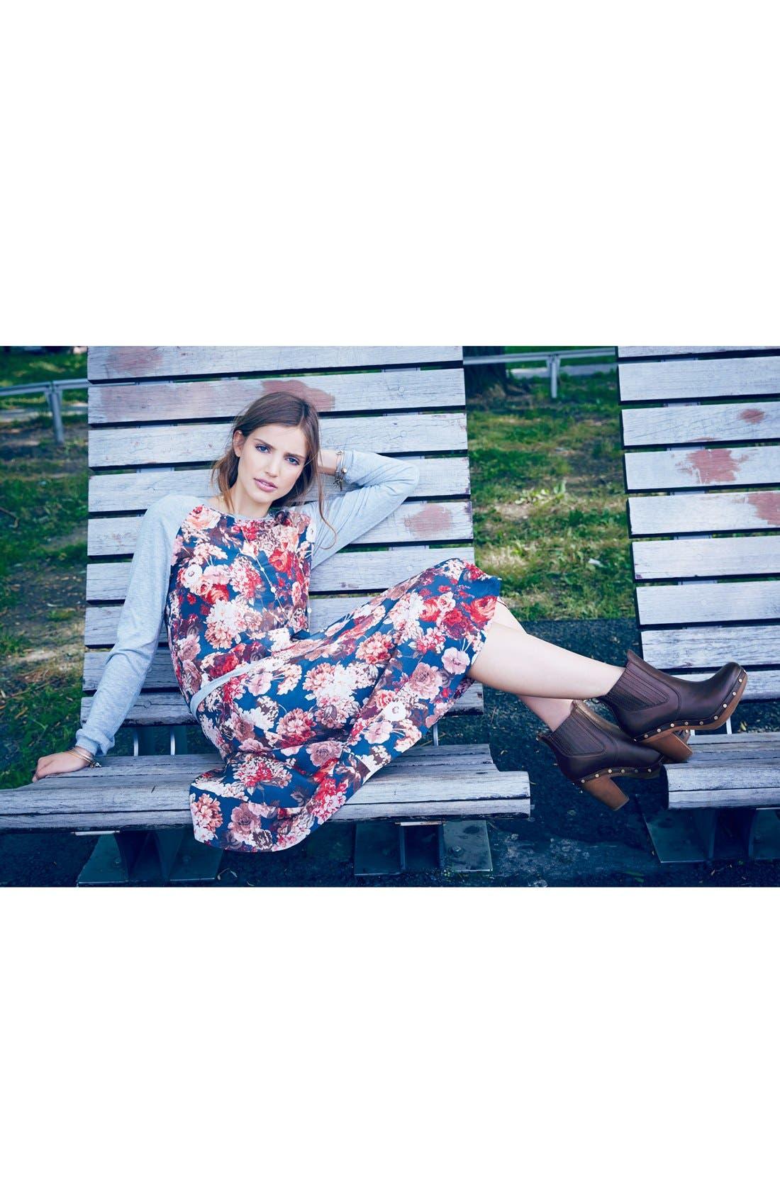 Alternate Image 5  - Search for Sanity Floral Print Midi Skirt (Regular & Petite)