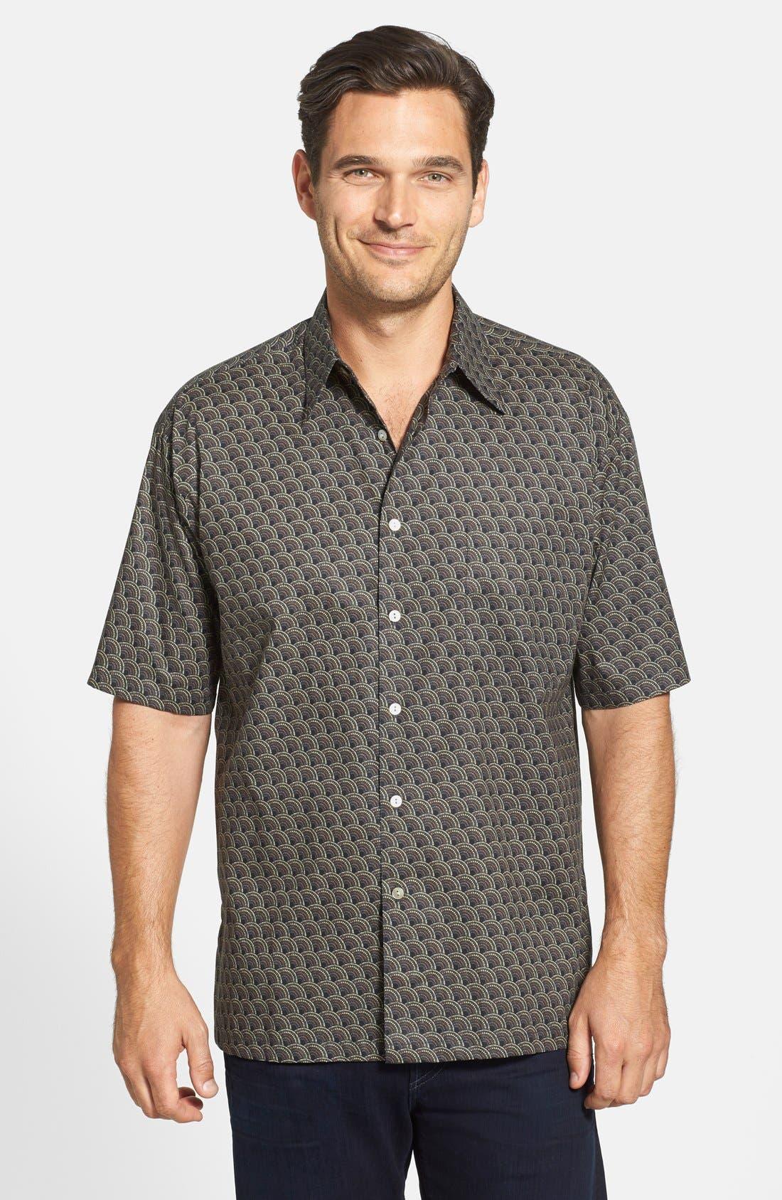 Alternate Image 1 Selected - Tori Richard 'Deco' Classic Fit Short Sleeve Cotton Lawn Sport Shirt