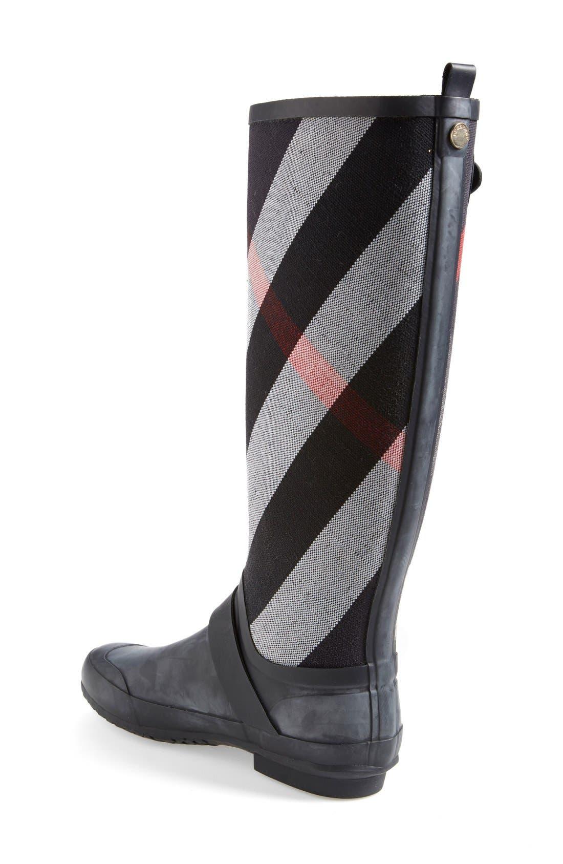 Alternate Image 2  - Burberry 'Birkback' Rain Boot (Women) (Wide Calf)