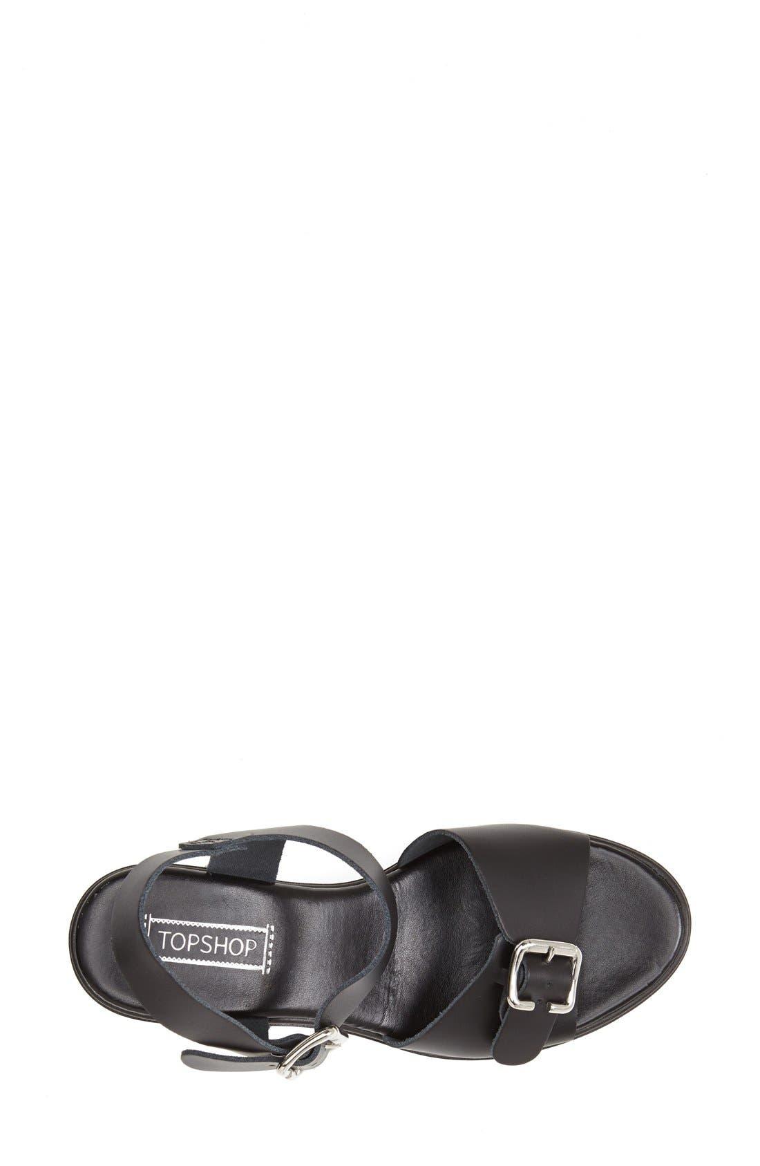 Alternate Image 3  - Topshop 'Niece' Platform Leather Sandal (Women)