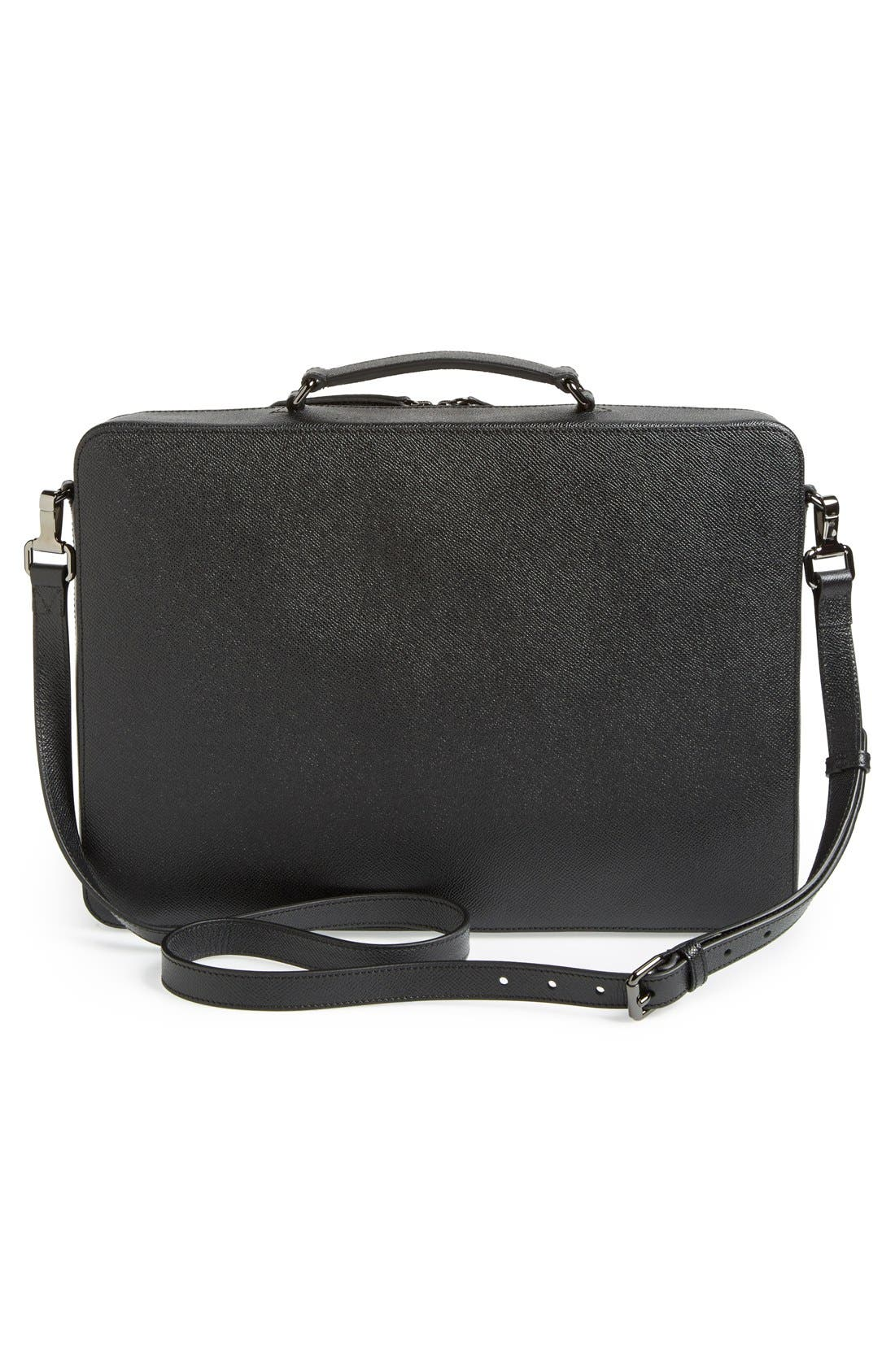 Alternate Image 4  - Burberry 'Blackmore' Leather Computer Briefcase