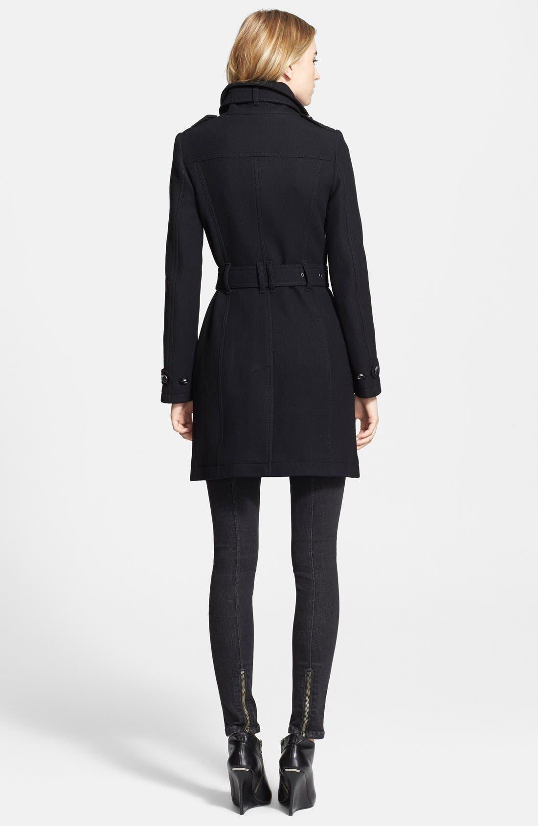 Alternate Image 4  - Burberry Brit 'Rushworth' Belted Wool Blend Coat