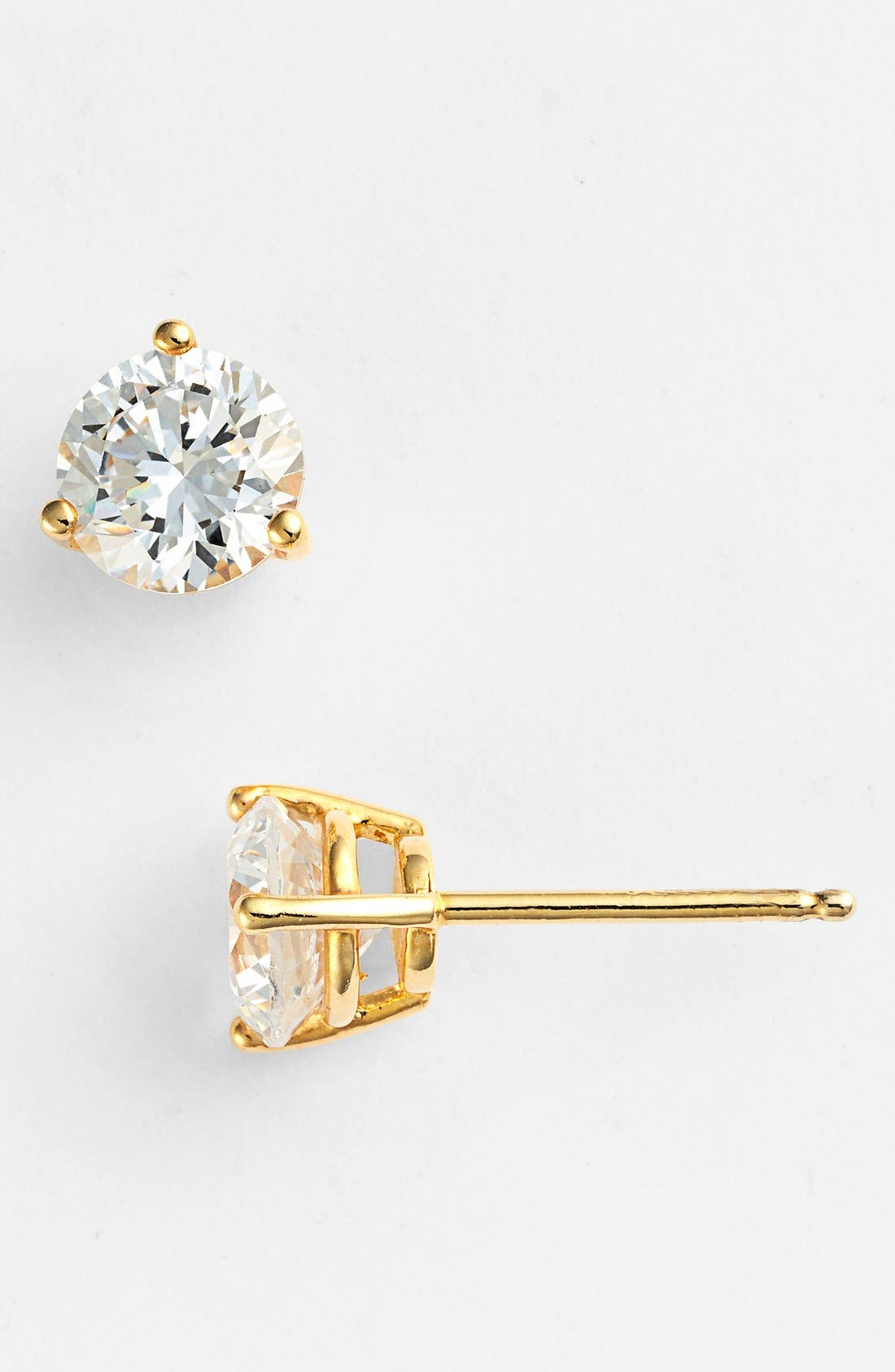 Alternate Image 3  - Nordstrom Precious Metal Plated 2ct tw Cubic Zirconia Earrings