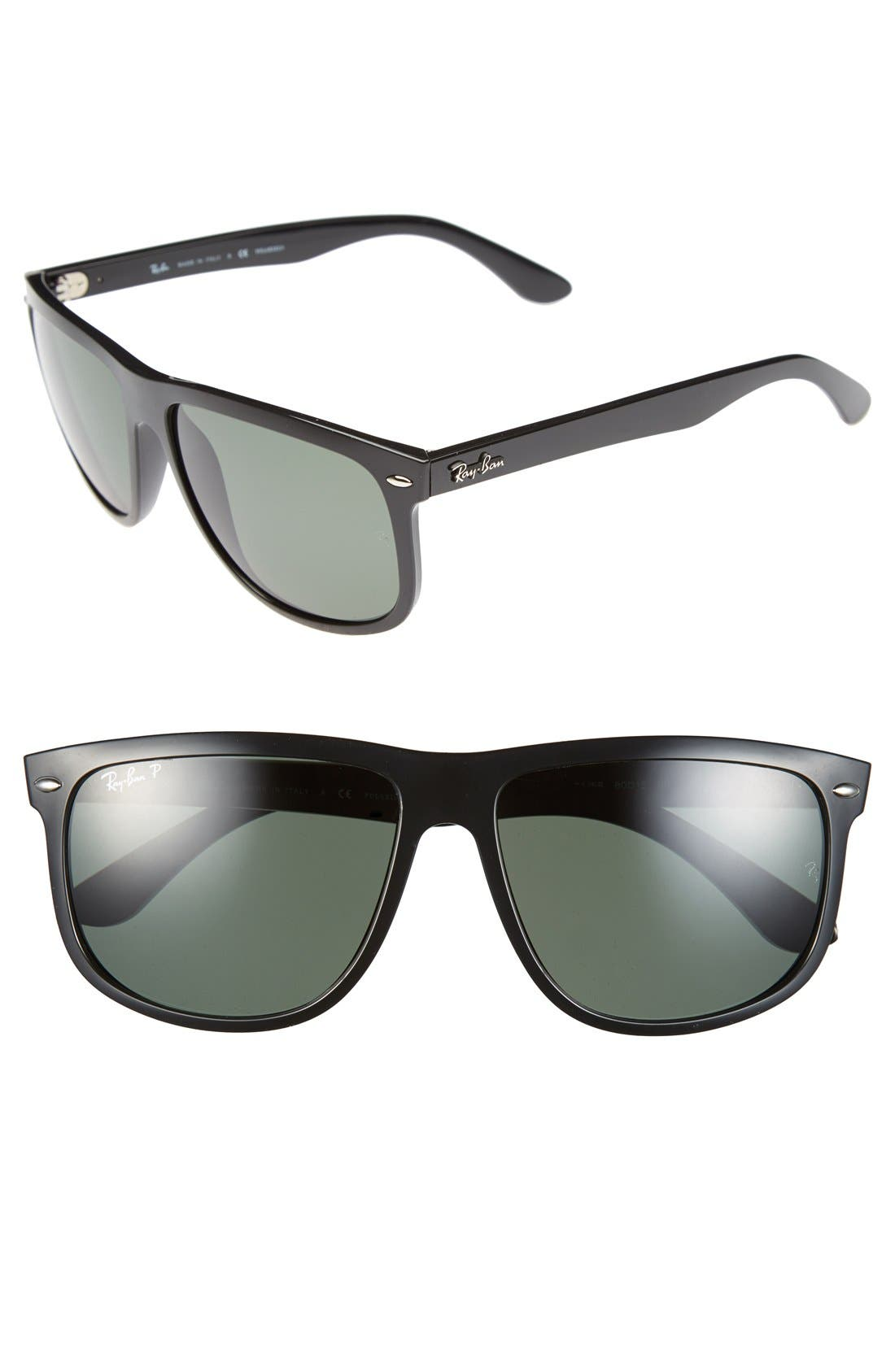 Alternate Image 1 Selected - Ray-Ban 'Boyfriend' 60mm Polarized Sunglasses
