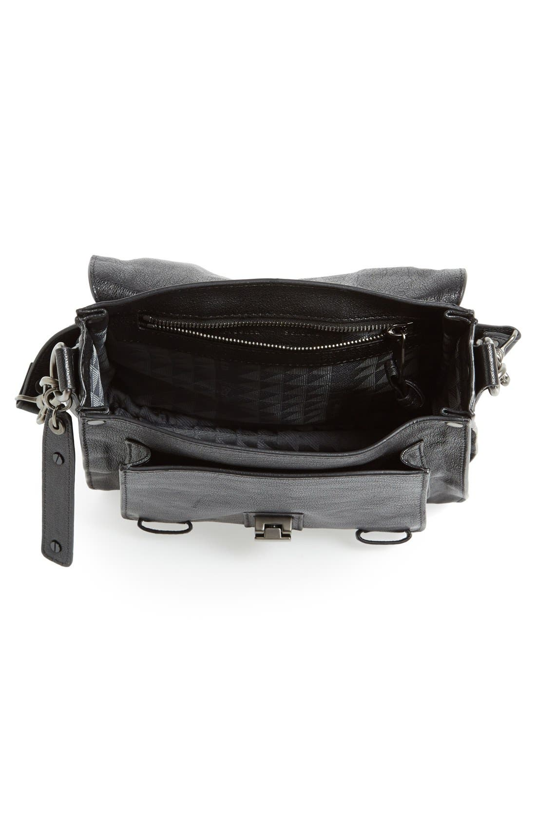'PS1' Fringed Crossbody Pouch,                             Alternate thumbnail 4, color,                             Black