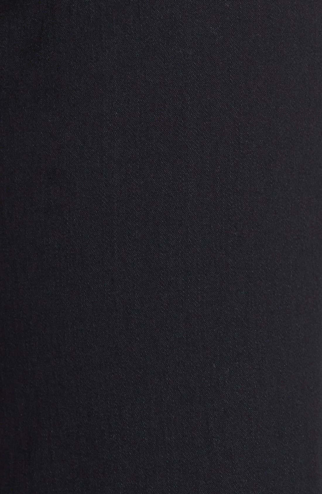 'Marilyn' Stretch Straight Leg Jeans,                             Alternate thumbnail 3, color,                             Black