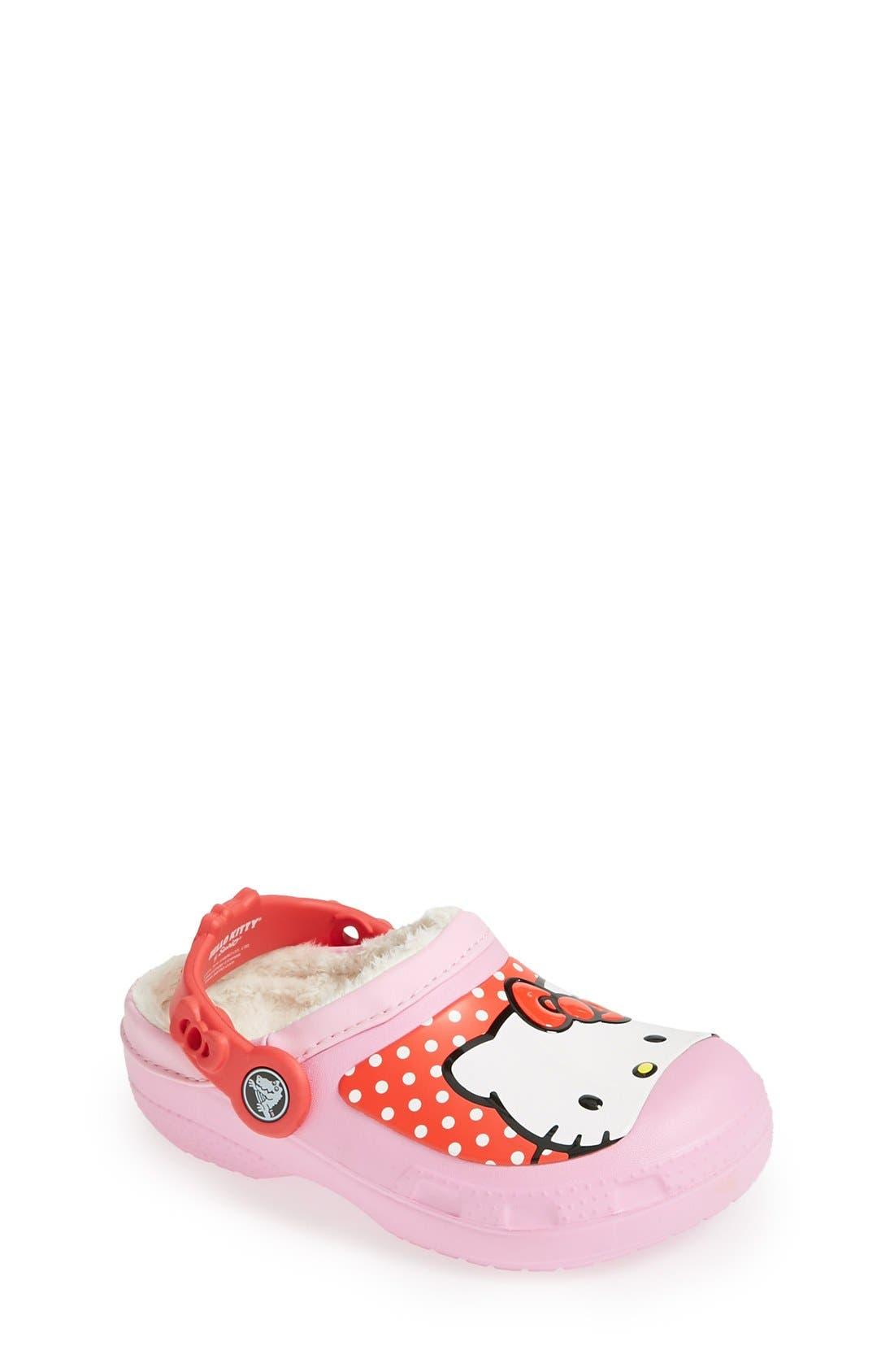 Alternate Image 1 Selected - CROCS™ 'Hello Kitty® - Dots' Slip-On (Walker, Toddler & Little Kid)
