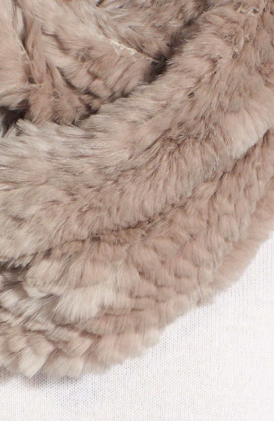 Alternate Image 2  - Jocelyn Genuine Rabbit Fur Infinity Scarf