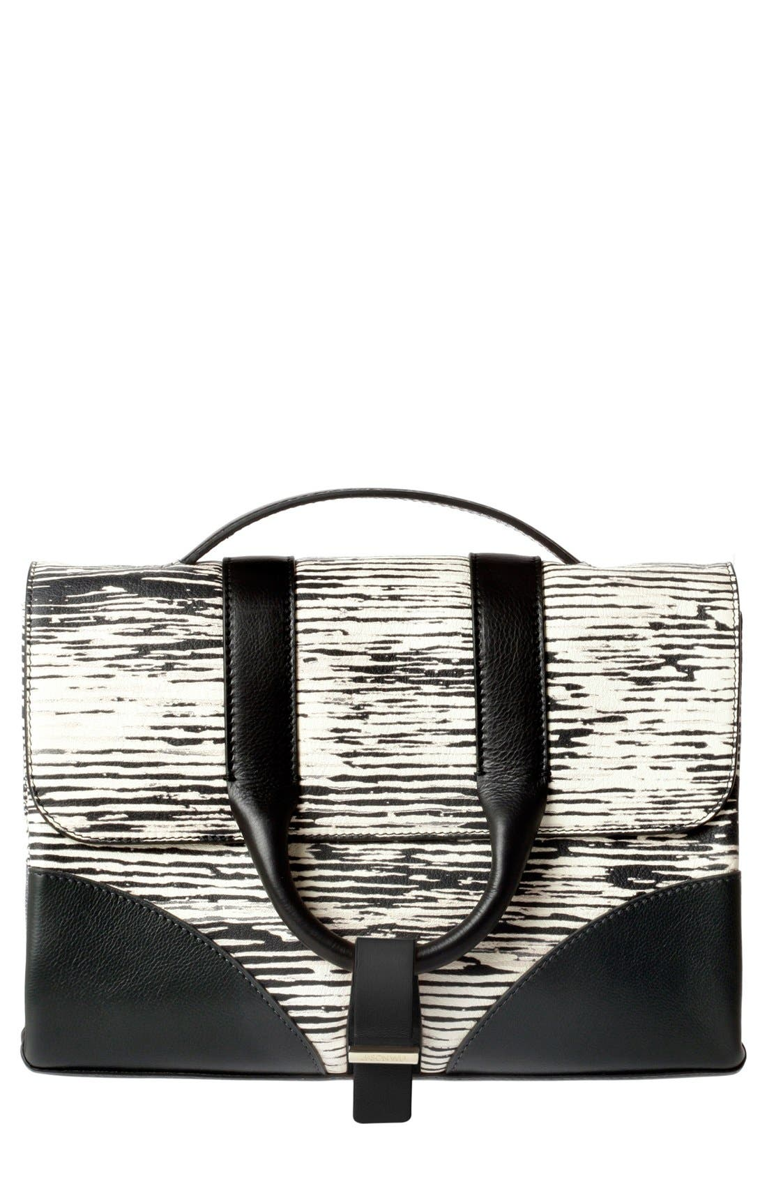 Alternate Image 1 Selected - Jason Wu 'Hanne' Printed Calfskin Leather Messenger Bag