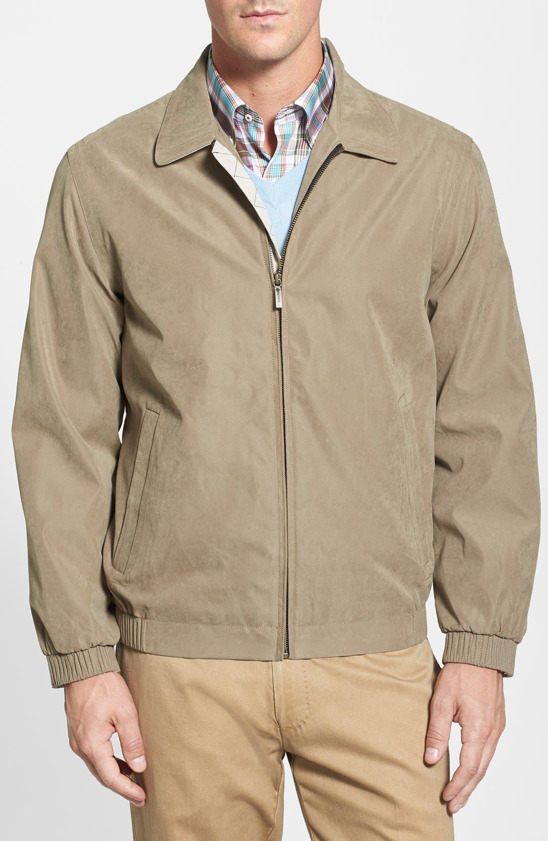'Microseta' Lightweight Golf Jacket,                             Main thumbnail 1, color,                             Khaki