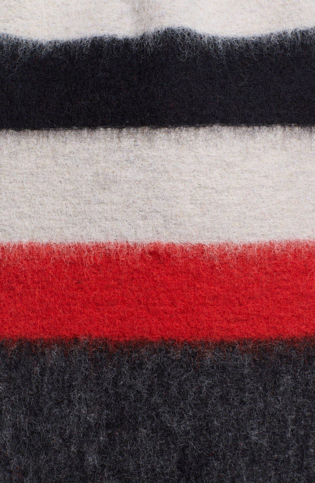 Alternate Image 4  - Alice + Olivia 'Keira' Sleeveless Wool Blend Wrap with Leather Belt