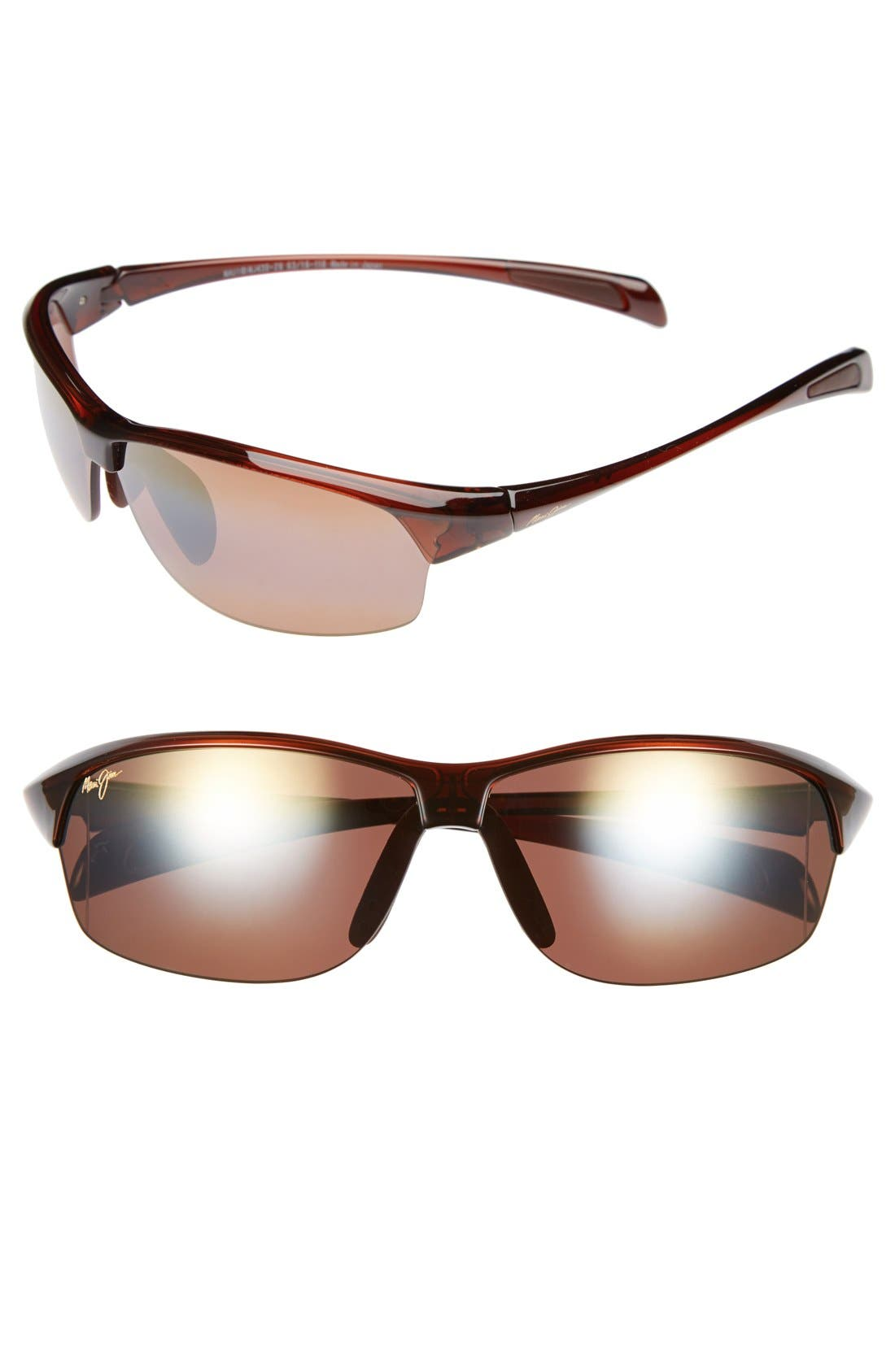 River Jetty 63mm PolarizedPlus2<sup>®</sup> Sunglasses,                             Main thumbnail 1, color,                             Rootbeer/  Bronze
