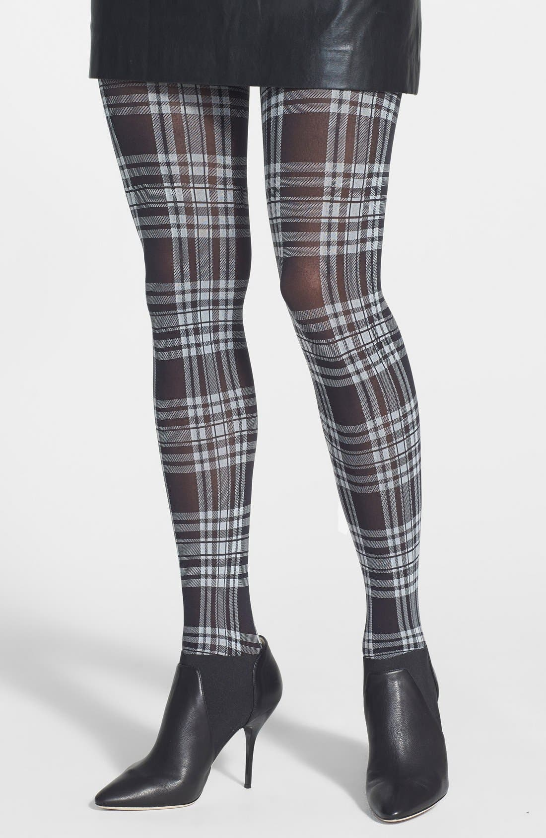 Main Image - Hue 'Schoolgirl' Plaid Tights