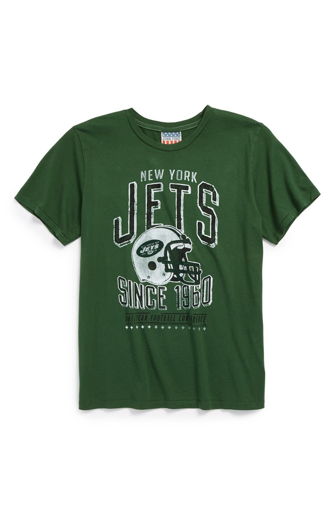 Alternate Image 1 Selected - Junk Food 'New York Jets - NFL' Graphic T-Shirt (Little Boys & Big Boys)