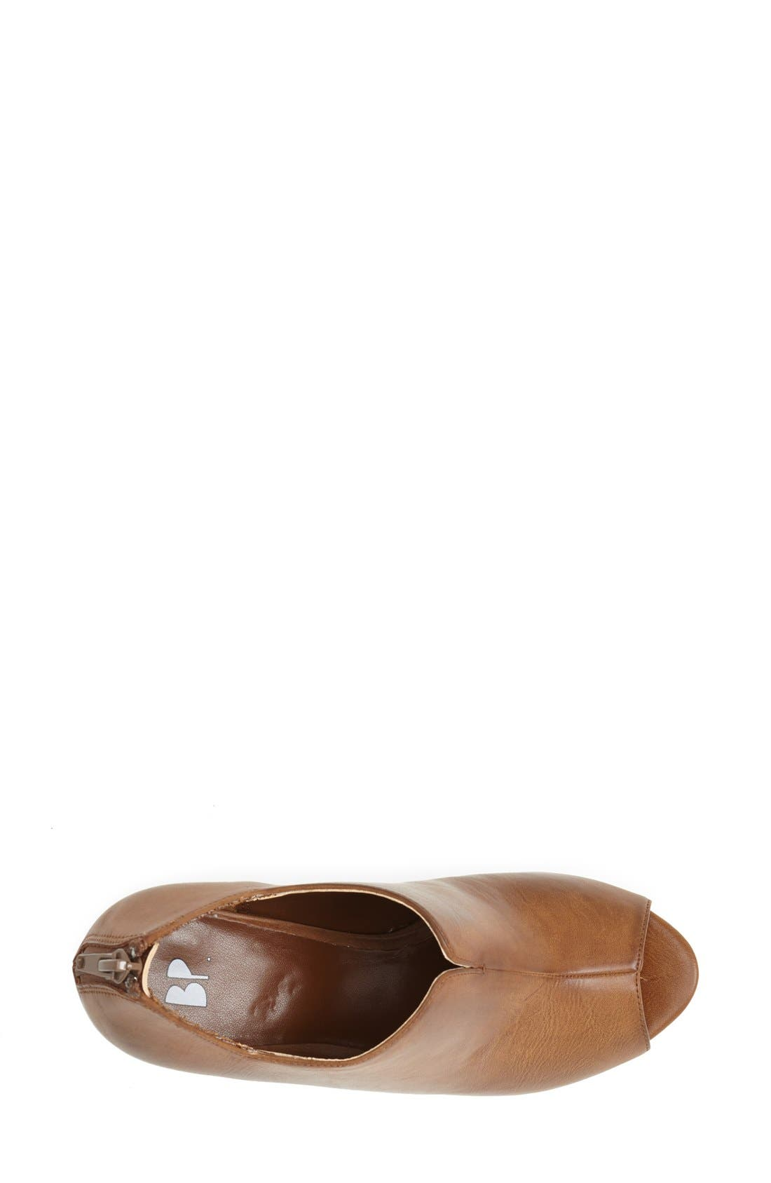 'Run Around' Wedge Sandal,                             Alternate thumbnail 3, color,                             Cognac