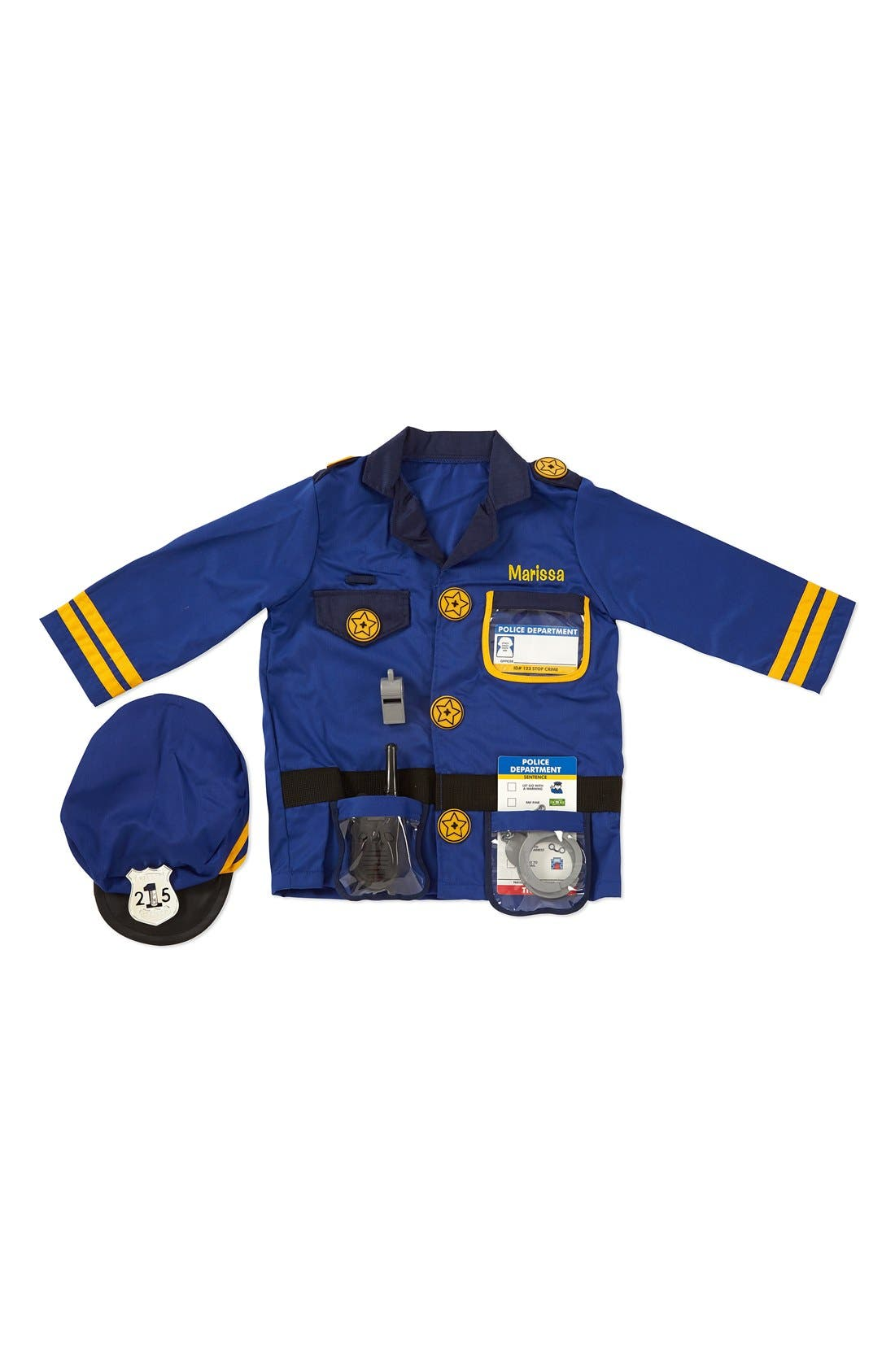 Personalized Police Officer Costume Set,                         Main,                         color, Blue