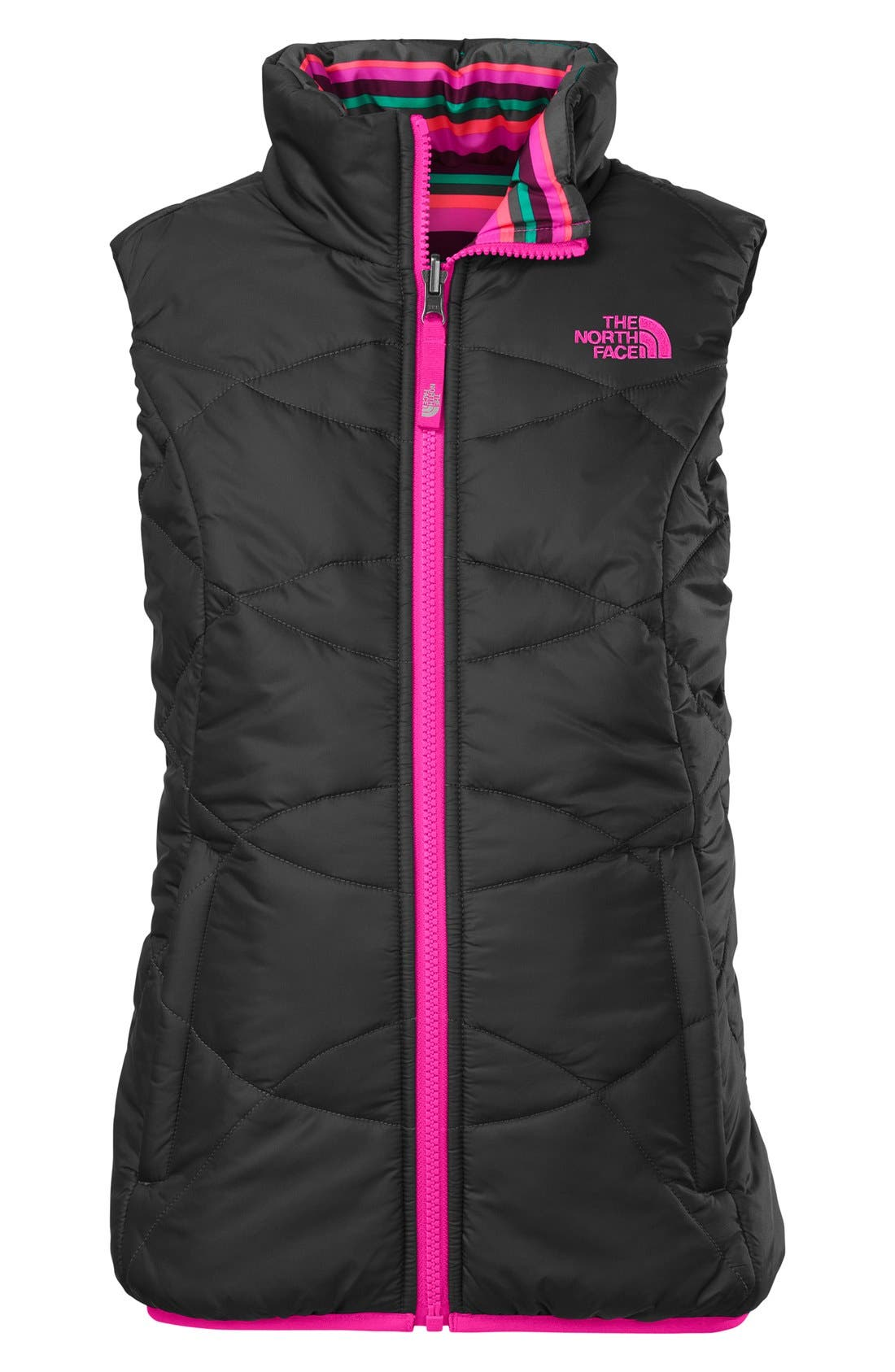 Main Image - The North Face 'Perrito' Reversible Waterproof Vest (Little Girls)