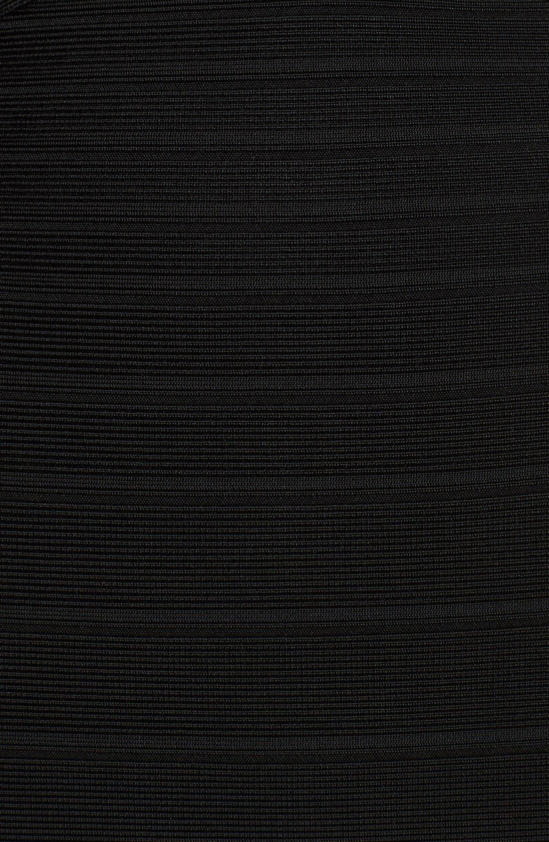 Alternate Image 3  - Herve Leger Sleeveless V-Neck Flared Bandage Gown