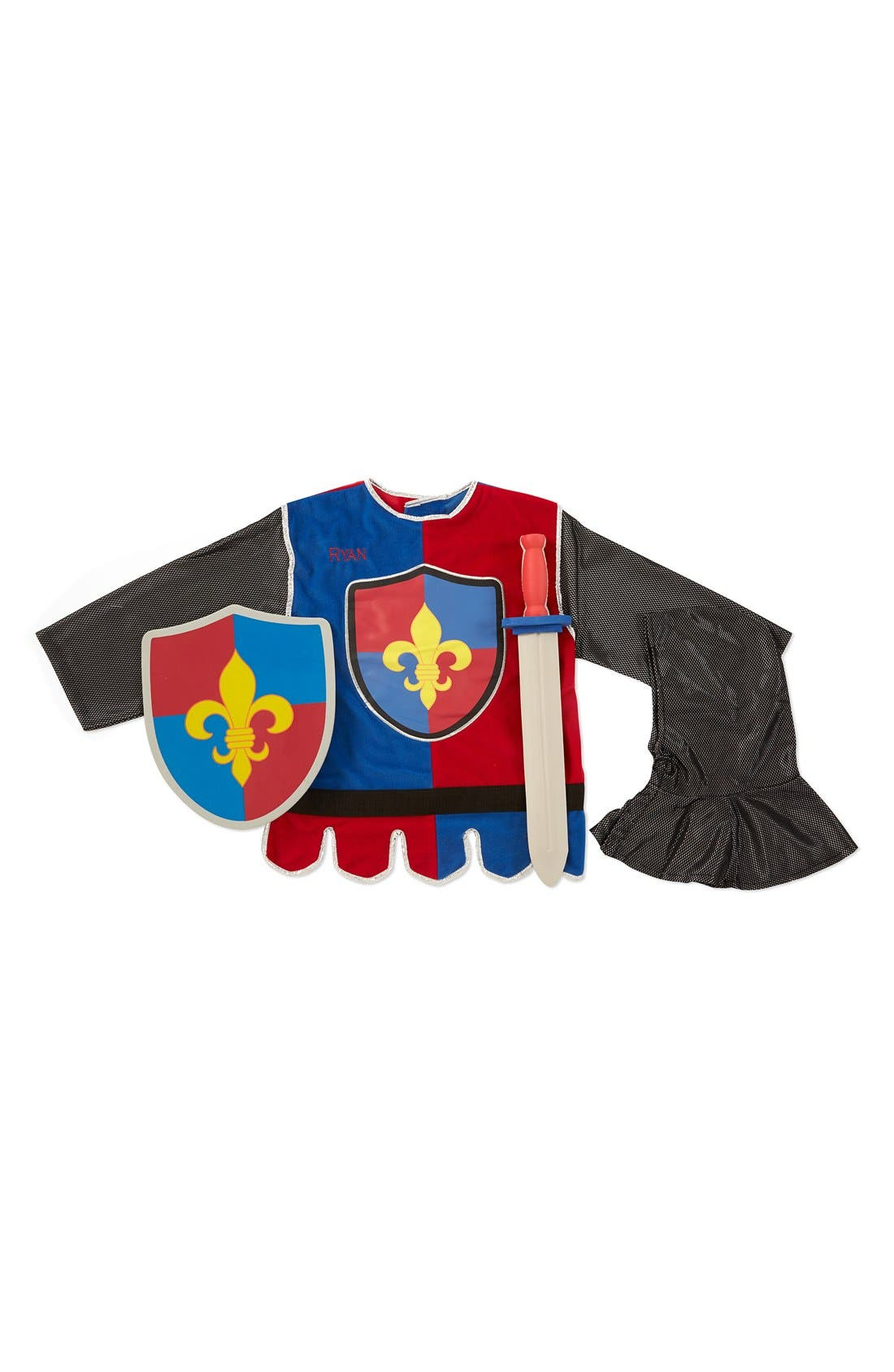 'Knight' Personalized Costume Set,                         Main,                         color, Red