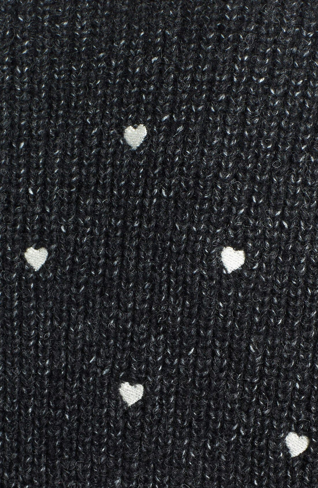 Alternate Image 3  - Press Embroidered Hearts Sweater