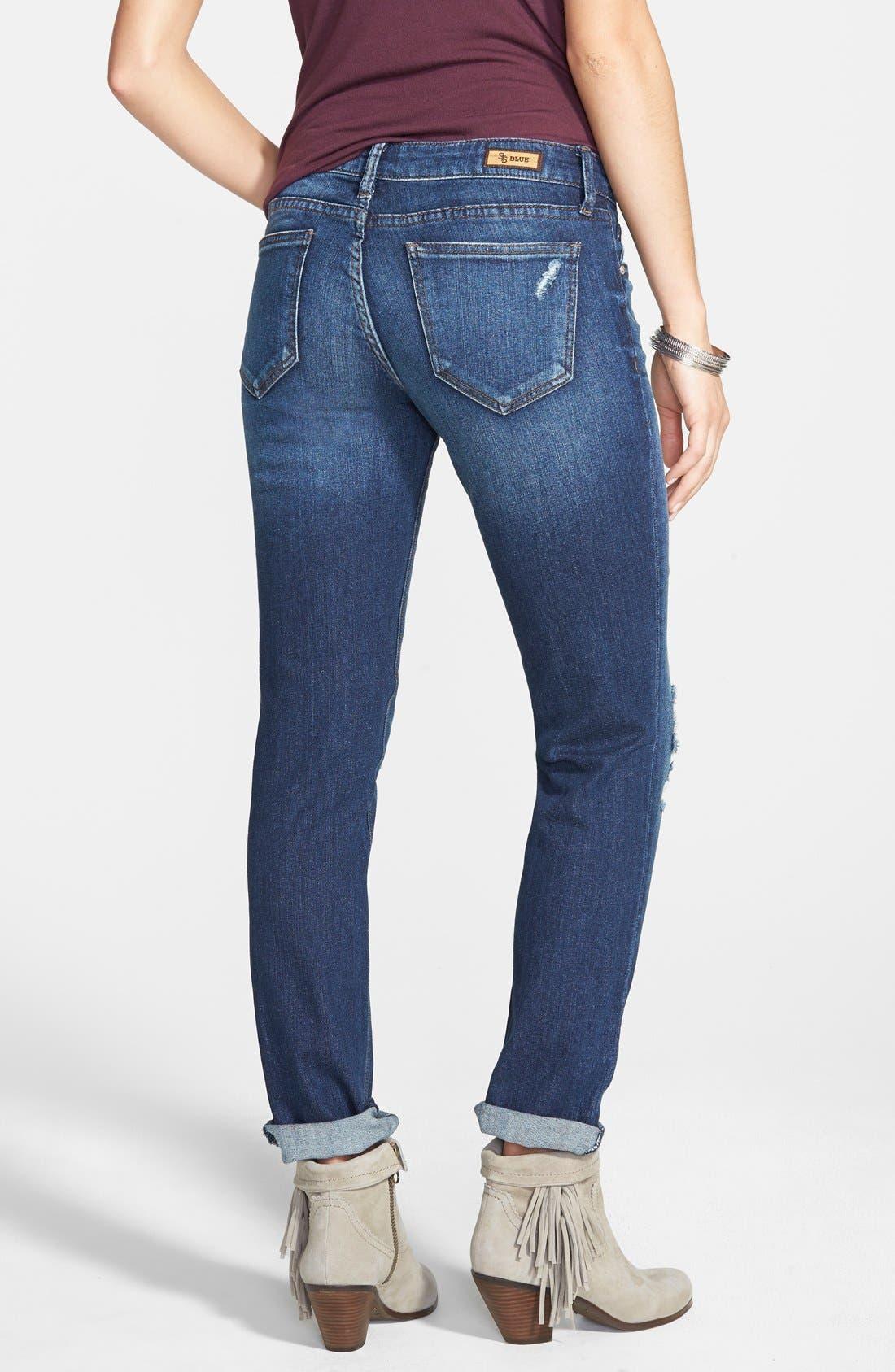 Alternate Image 2  - STS Blue 'Joey' Boyfriend Jeans (Medium Blue Wash)