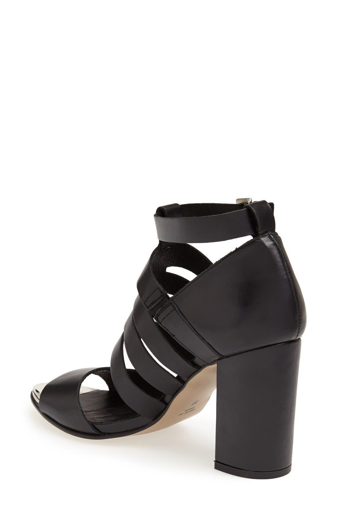 Alternate Image 2  - Topshop 'Glare' Cutout Gladiator Sandal (Women)