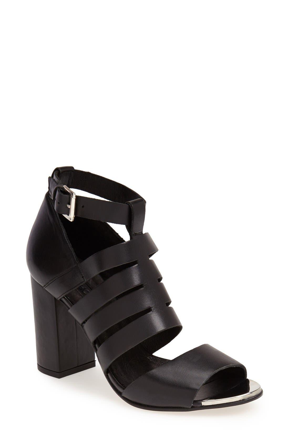 Main Image - Topshop 'Glare' Cutout Gladiator Sandal (Women)