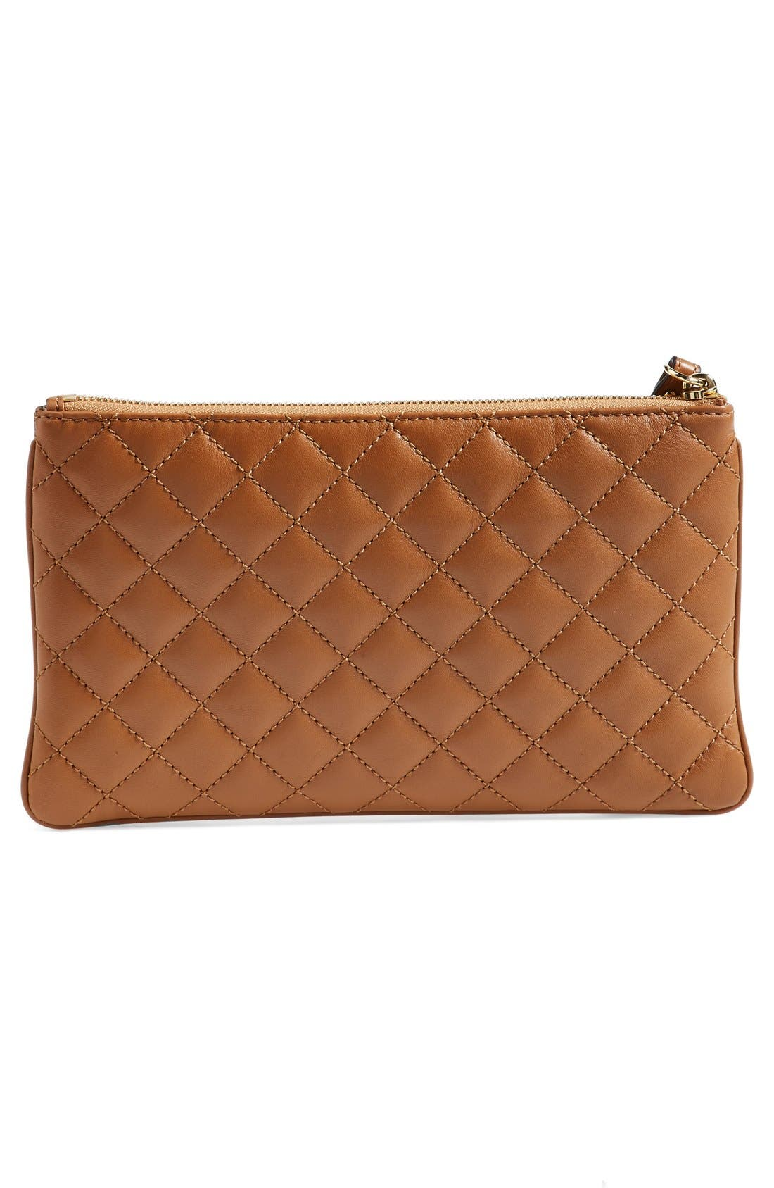 Alternate Image 3  - MICHAEL Michael Kors 'Selma' Quilted Leather Zip Clutch
