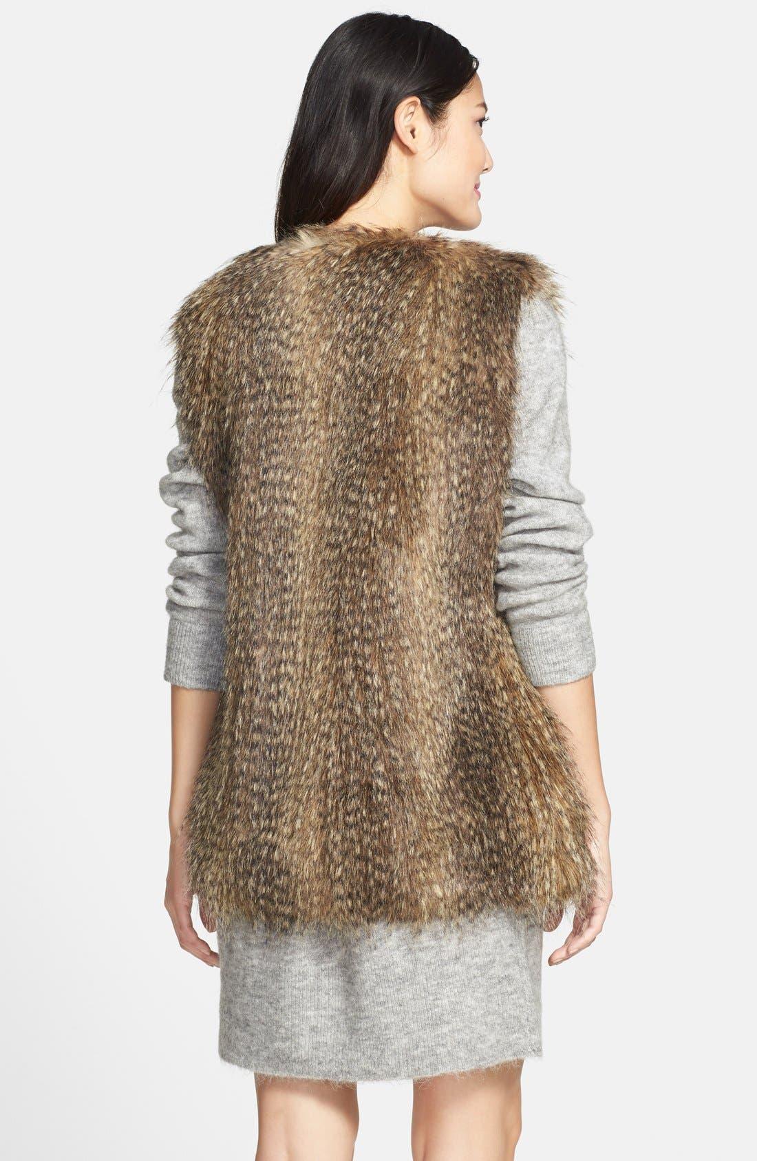 Alternate Image 2  - Via Spiga Faux Fur Vest