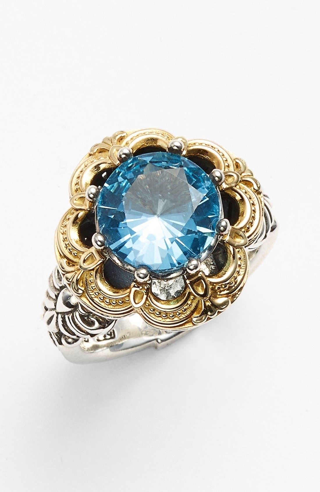 'Hermione' Semiprecious Stone Ring,                             Main thumbnail 1, color,                             Silver/ Blue Topaz