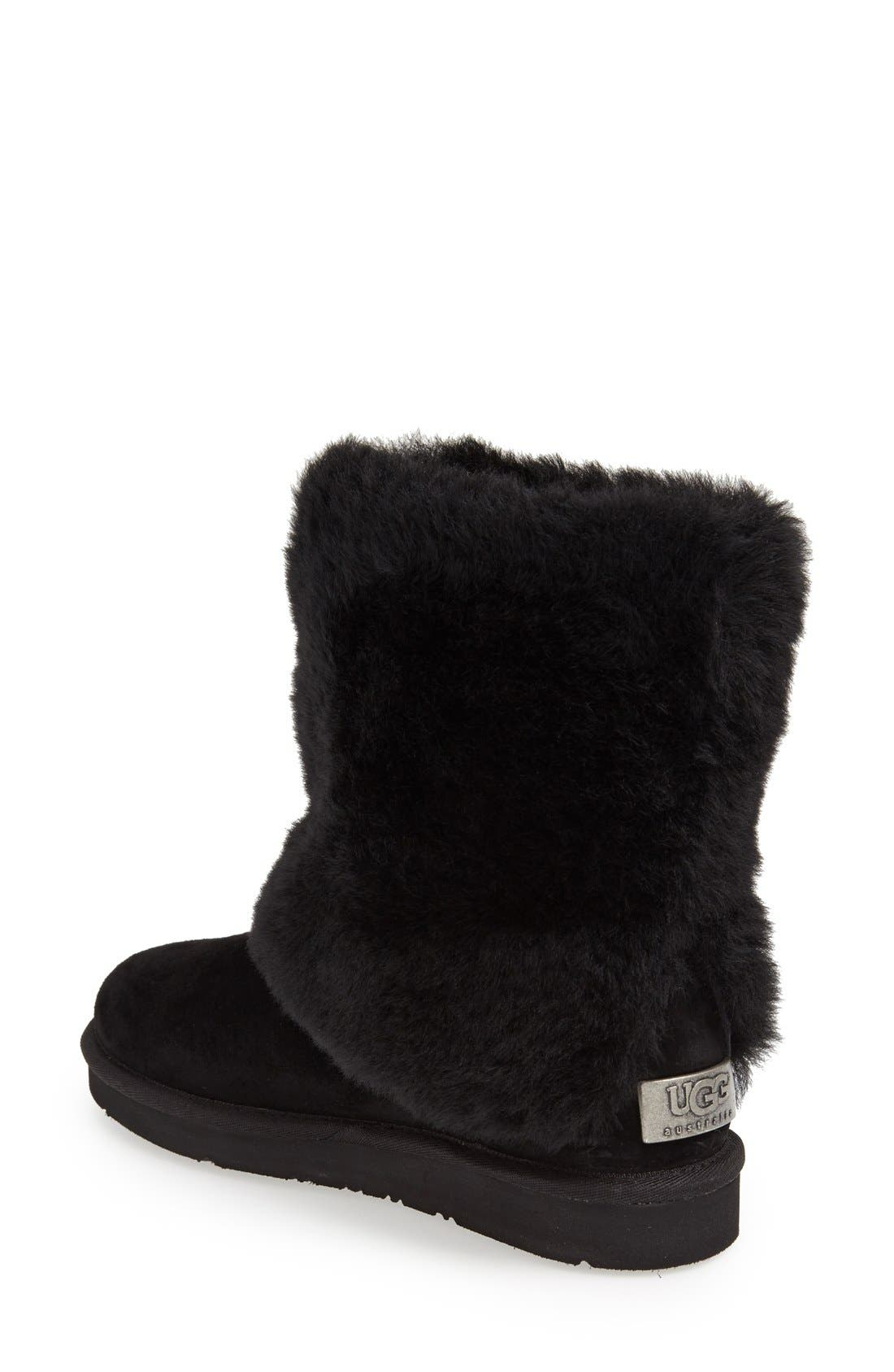 Alternate Image 2  - UGG® 'Patten' Water Resistant Silkee™ Suede Shearling Cuff Boot (Women)