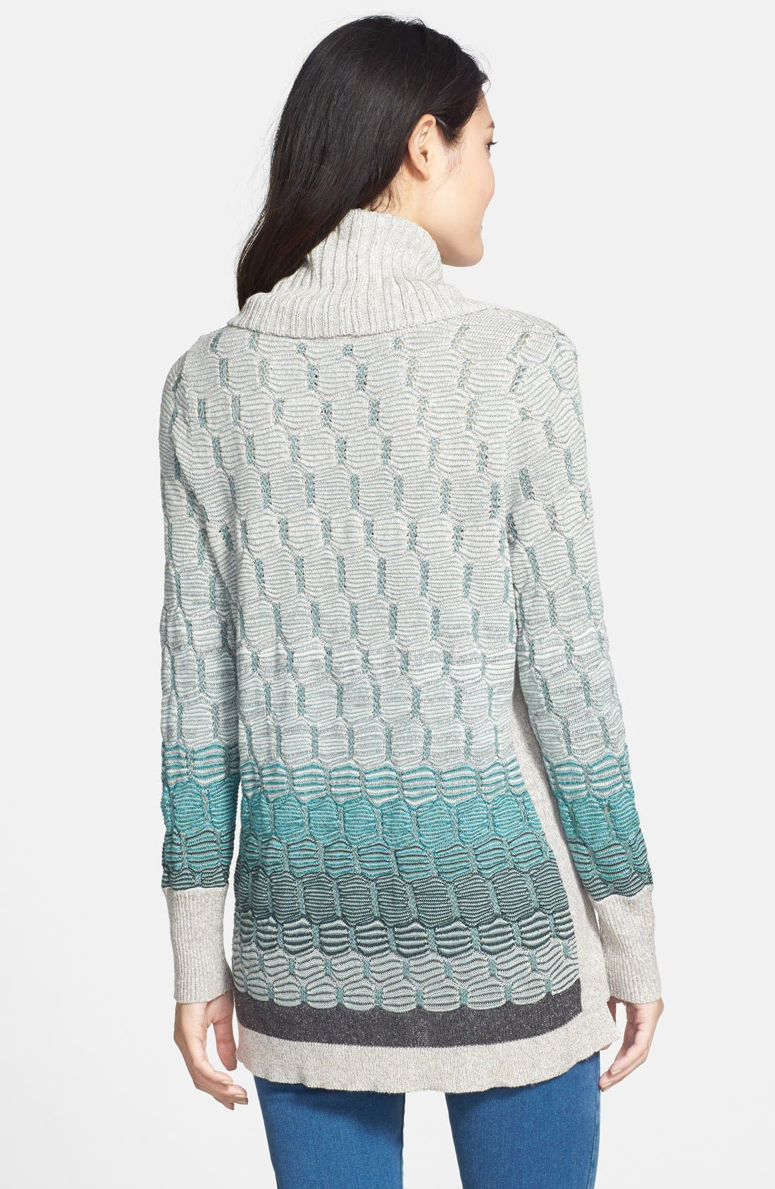 Alternate Image 2  - NIC+ZOE Textured Ombré Sweater with Removable Cowl (Regular & Petite)