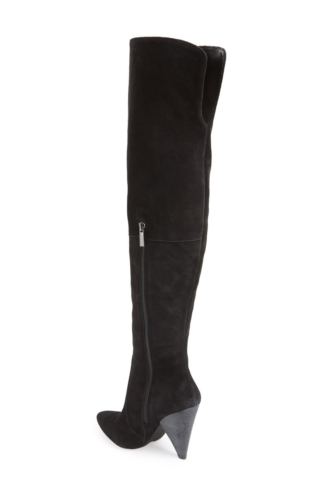 Alternate Image 2  - Vince Camuto 'Hollie' Over the Knee Pointy Toe Suede Boot (Women)