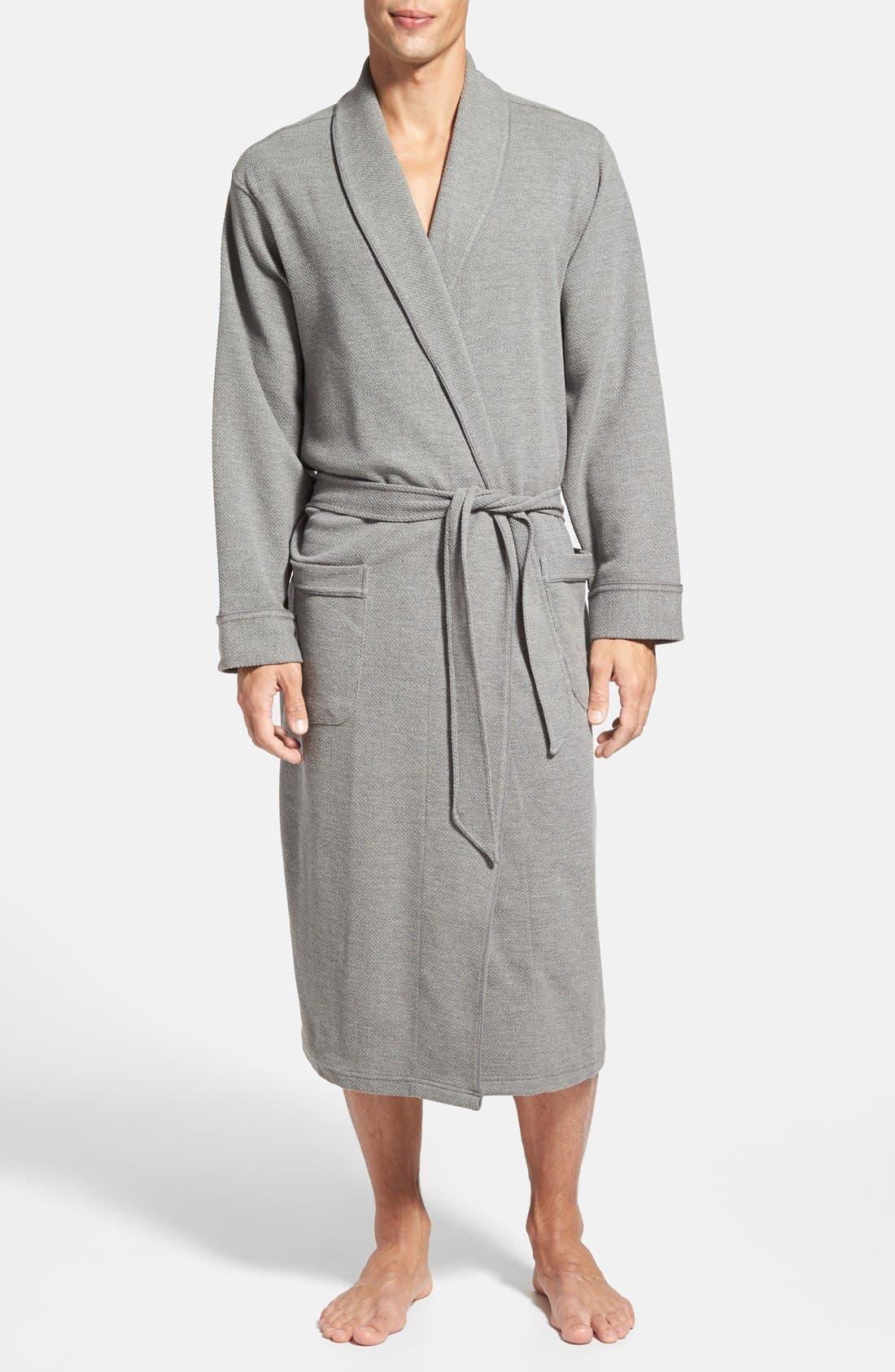 Alternate Image 1 Selected - Nordstrom Men's Shop Thermal Knit Robe