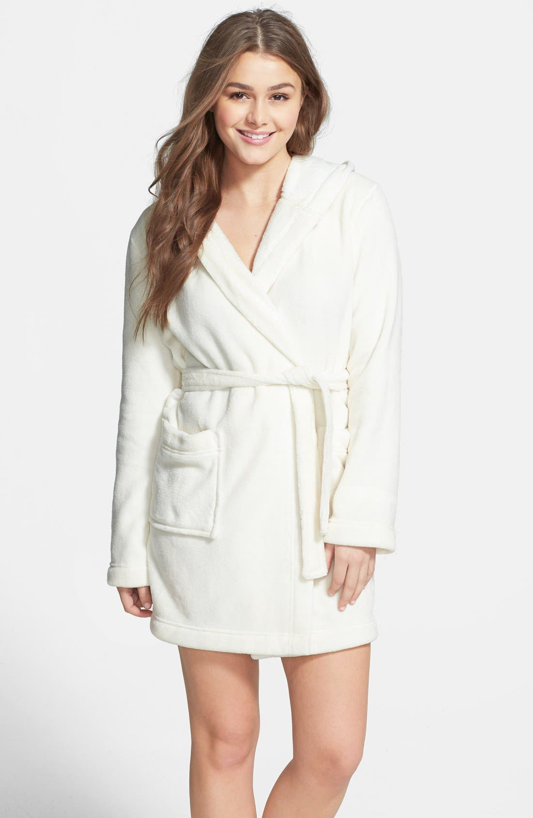 Main Image - BP. Undercover Plush Hooded Bathrobe