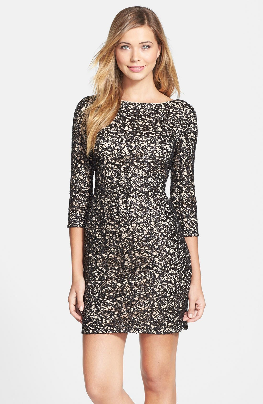 Main Image - Aidan by Aidan Mattox Sequin Sheath Dress