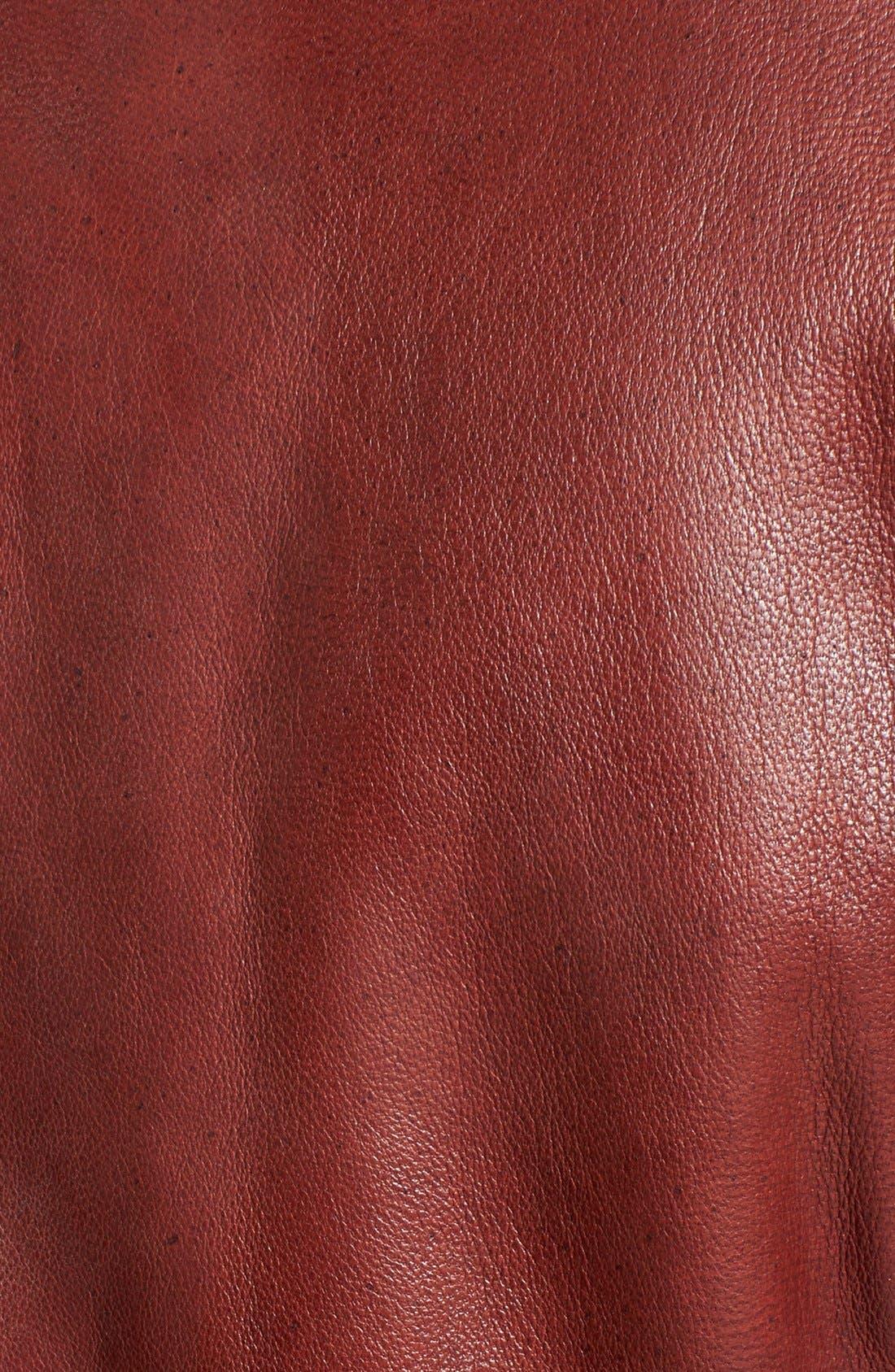 Alternate Image 3  - Bernardo Four-Pocket Leather Jacket (Regular & Petite)