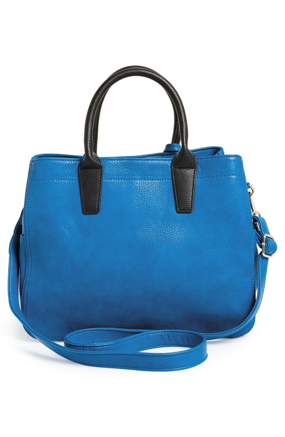 Alternate Image 4  - POVERTY FLATS by rian Faux Leather Convertible Tote