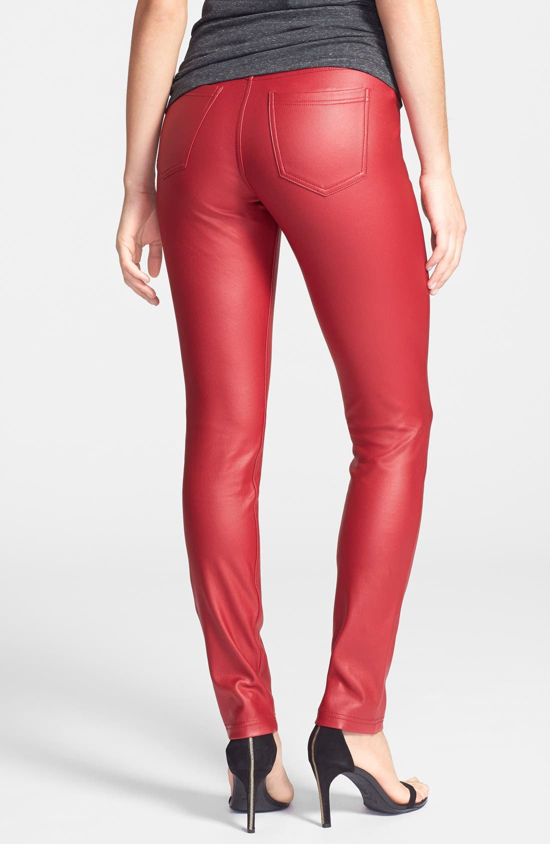 Alternate Image 2  - Hue Coated Twill Leggings