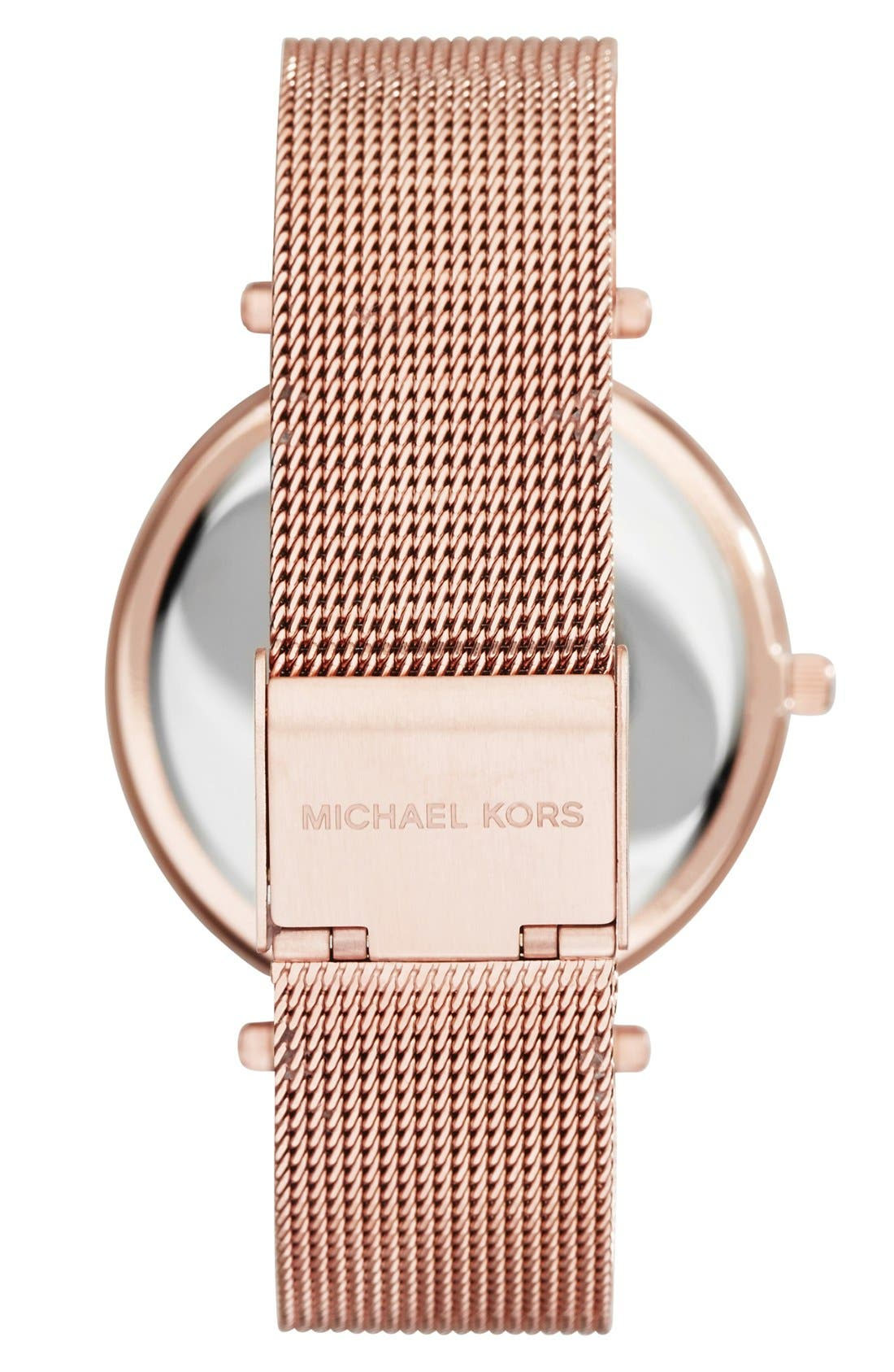 Alternate Image 2  - Michael Kors 'Darci' Crystal Bezel Mesh Strap Watch, 39mm