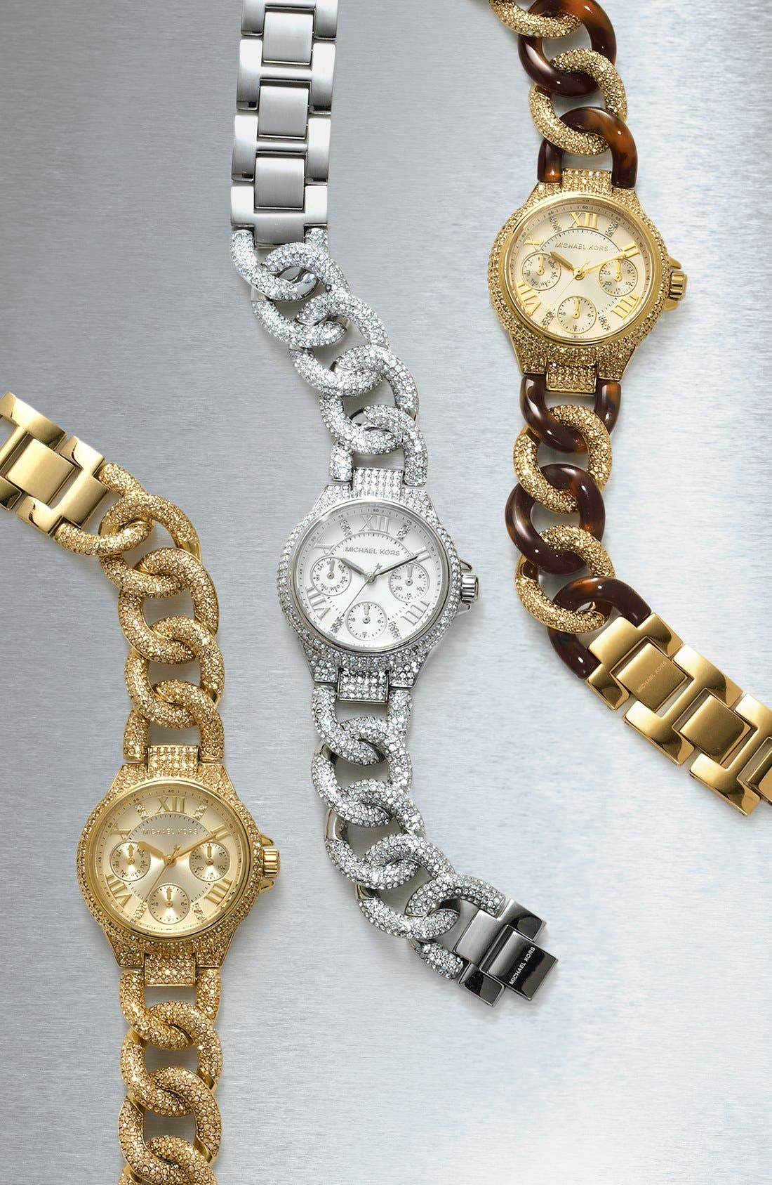 Alternate Image 5  - Michael Kors 'Mini Camille' Crystal Encrusted Chain Link Bracelet Watch, 34mm