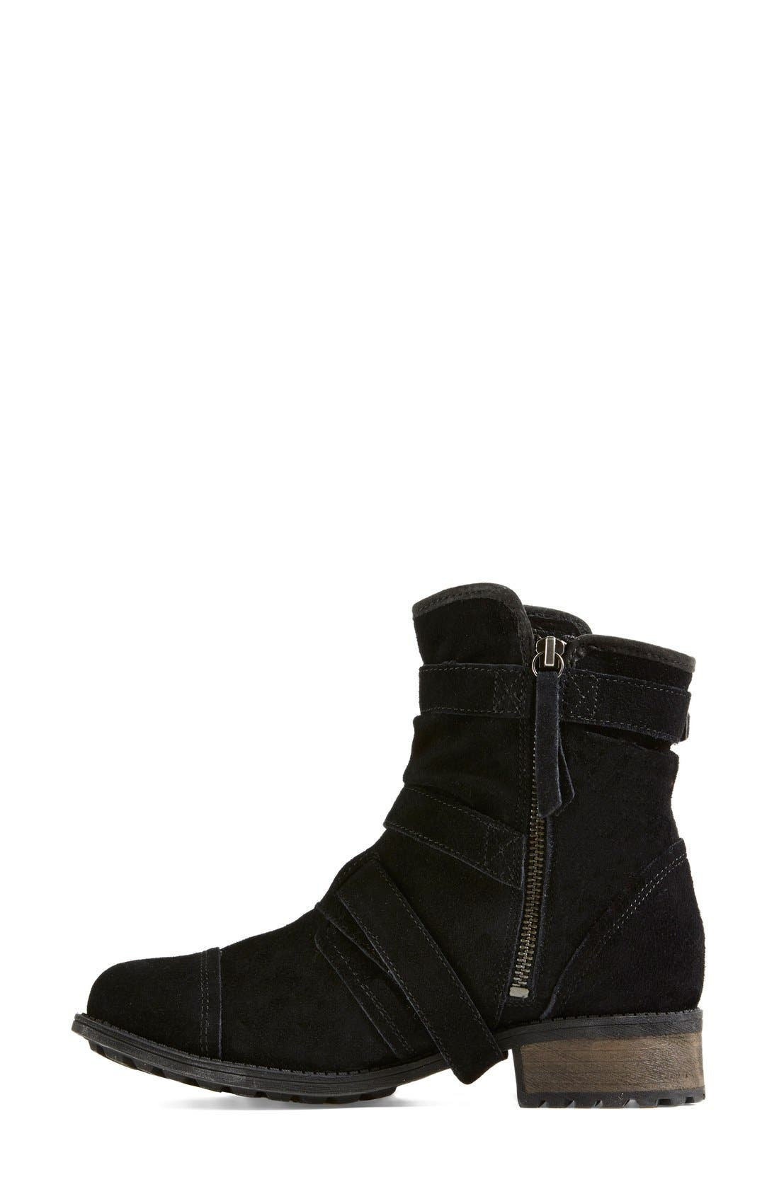 Alternate Image 6  - UGG® Australia 'Finney' Suede Moto Boot (Women)
