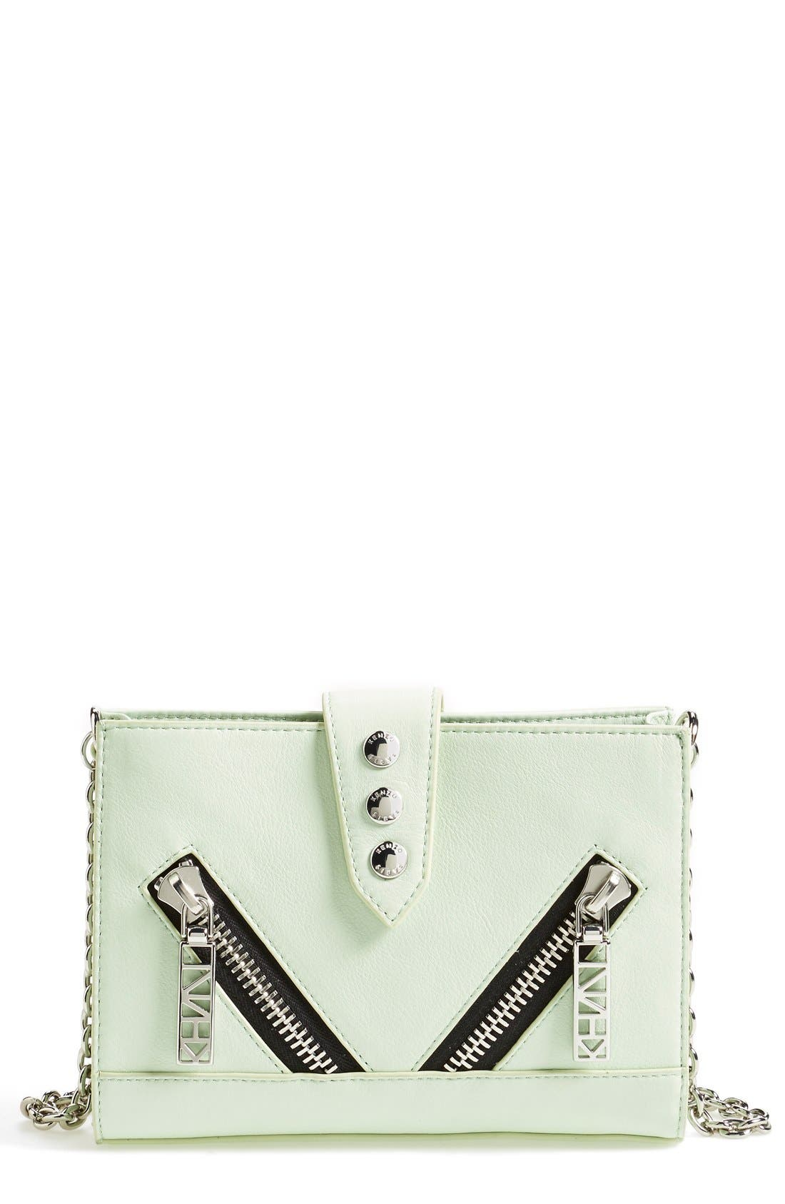 Main Image - KENZO 'Kalifornia' Leather Wallet on a Chain