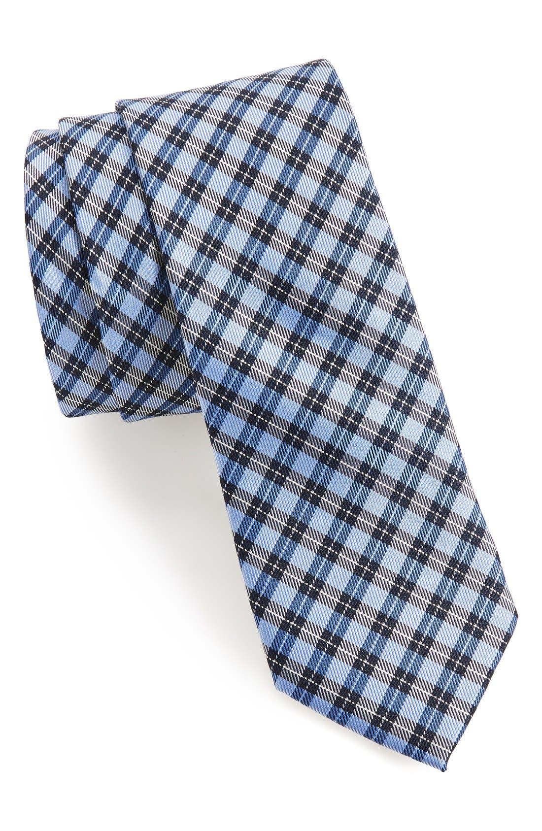 'Choi' Woven Silk Tie,                             Main thumbnail 1, color,                             Blue