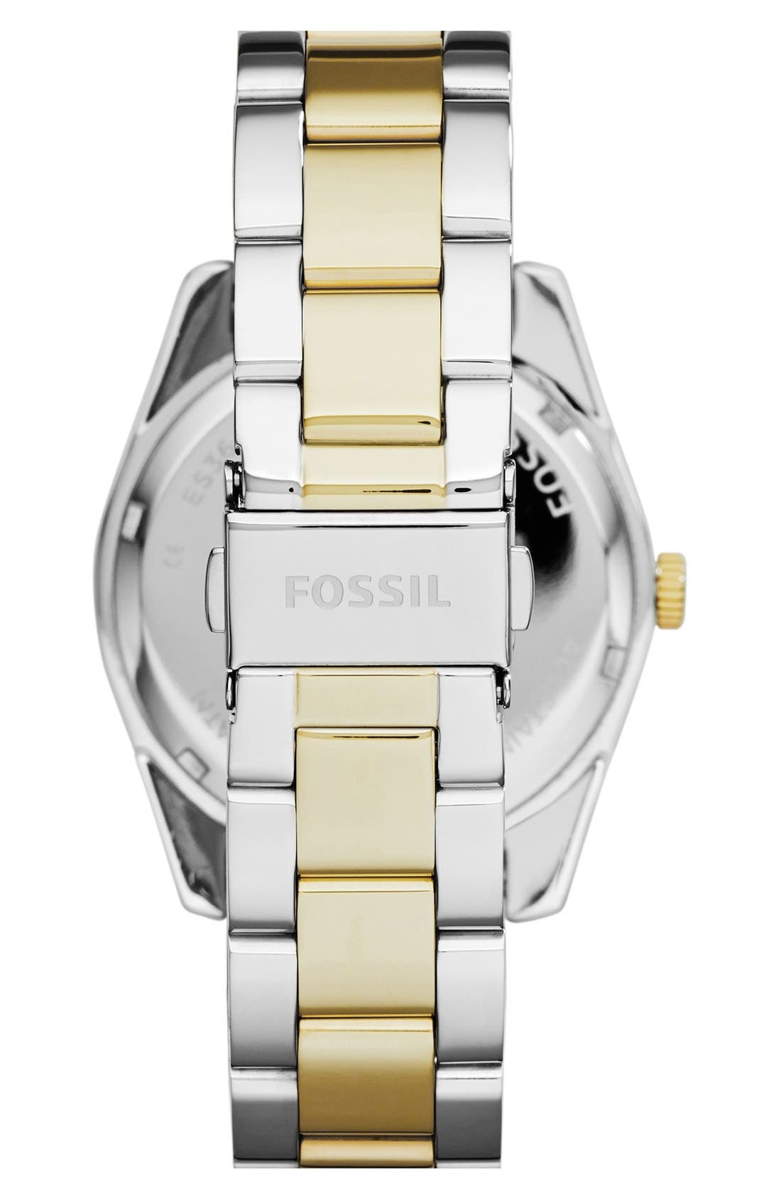 Alternate Image 2  - Fossil Perfect Boyfriend Bracelet Watch, 39mm