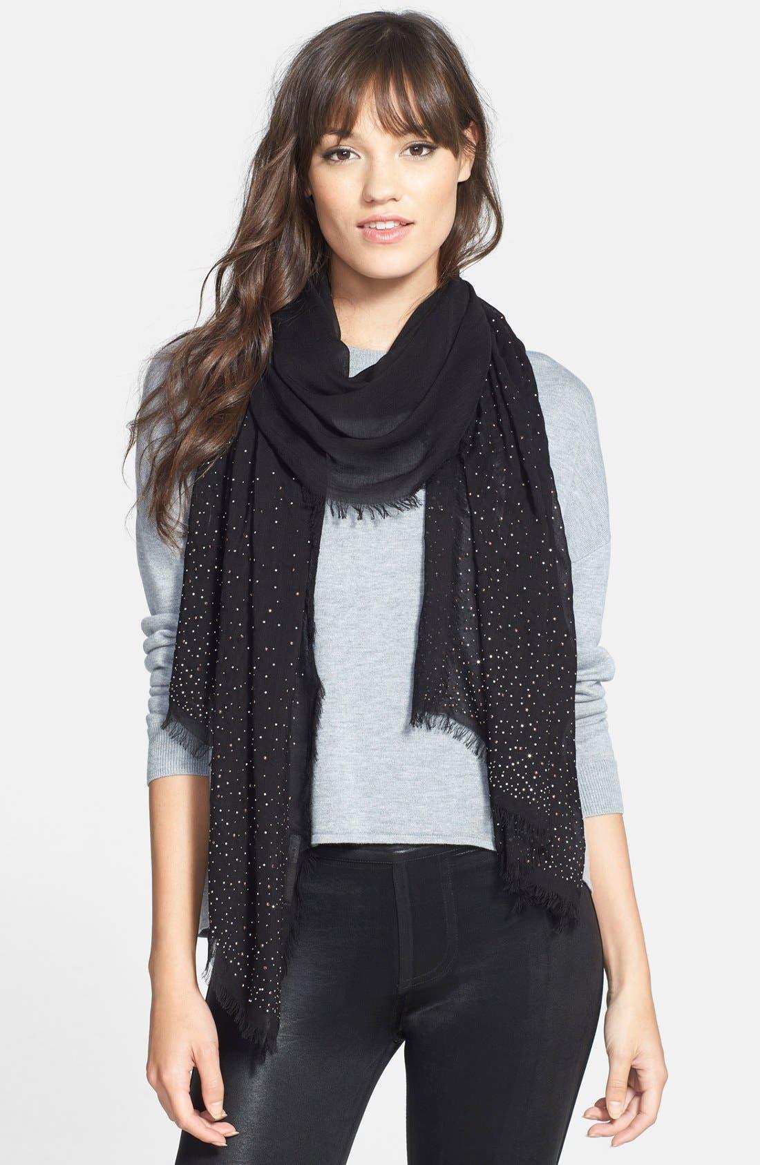 neration 'Diamante' Studded Wrap,                         Main,                         color, Black